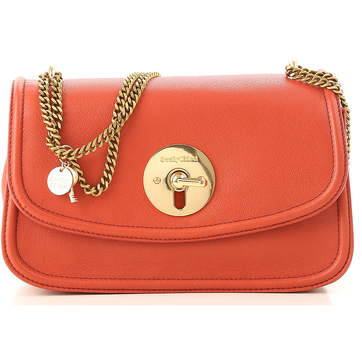 Image of See By Chloe Shoulder Bag for Women, Red, Leather, 2017