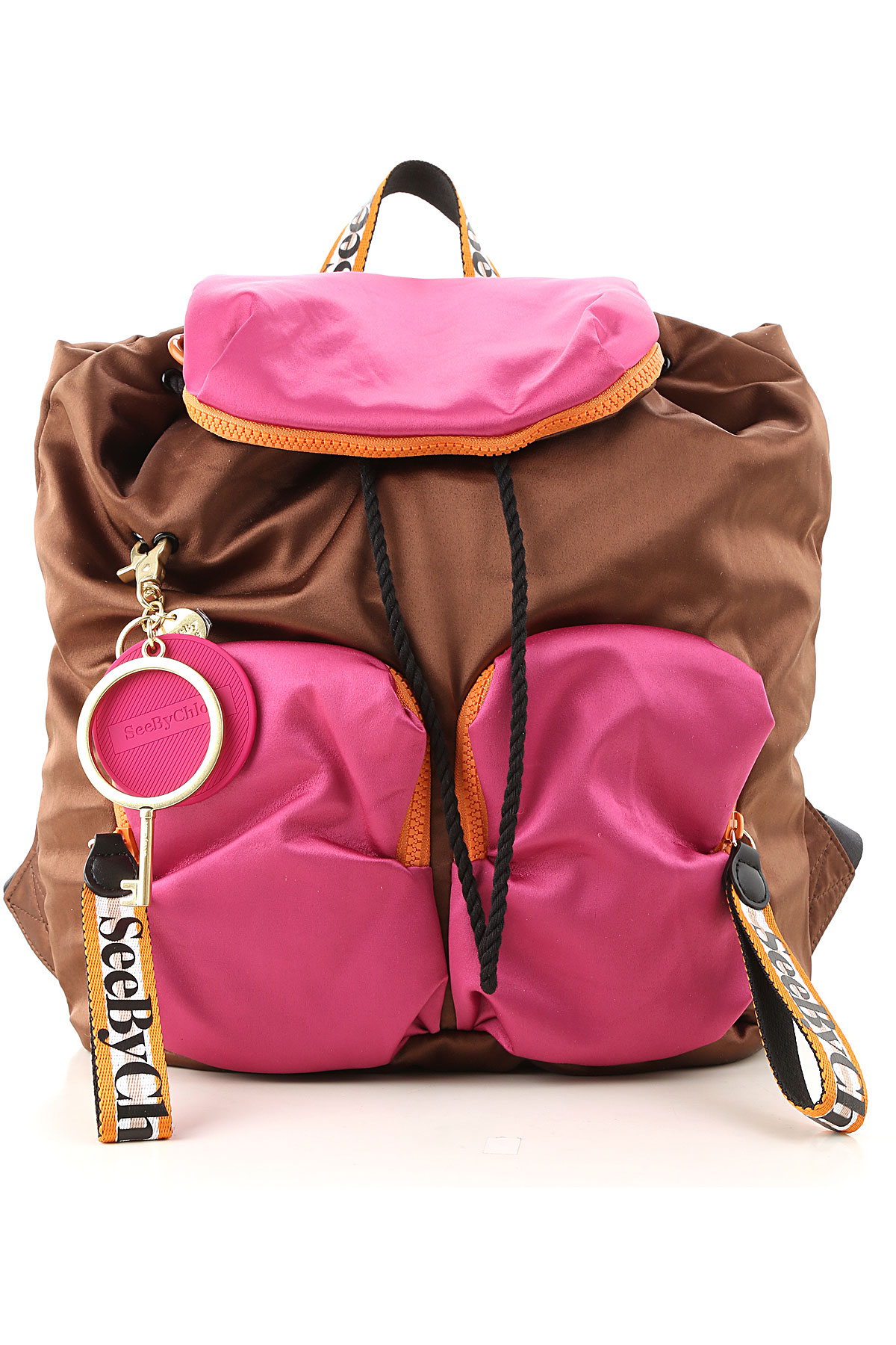 See By Chloe Backpack for Women On Sale, Caramel, satin, 2019