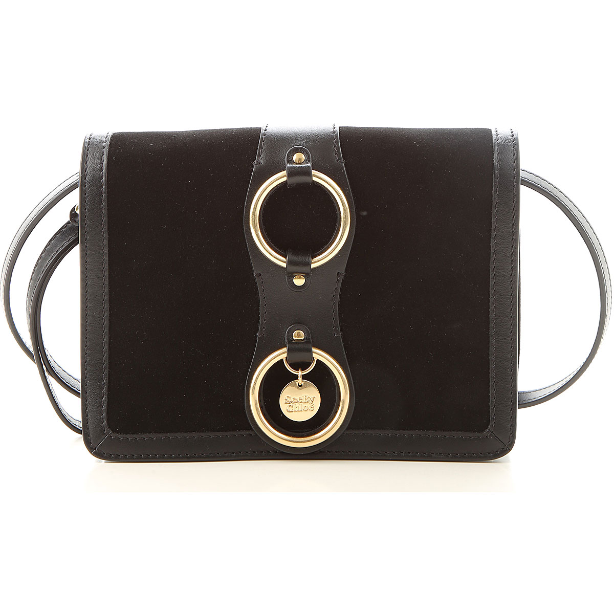 See By Chloe Clutch Bag On Sale, Black, Leather, 2019