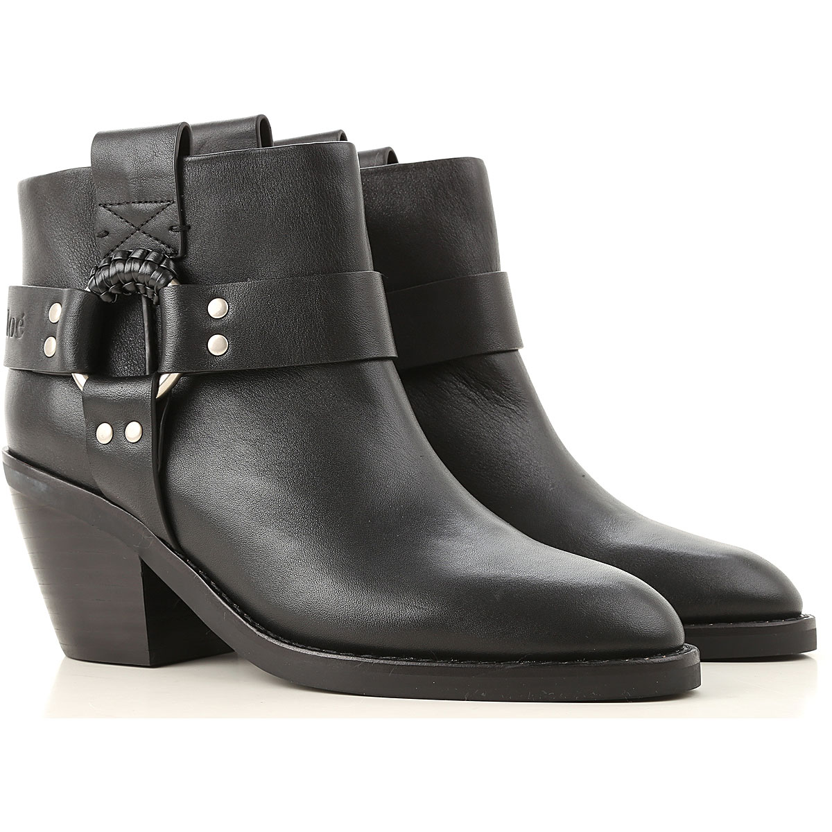 See By Chloe Boots for Women, Booties On Sale, Black, Leather, 2019, 10 11 6 6.5 7 8 8.5 9