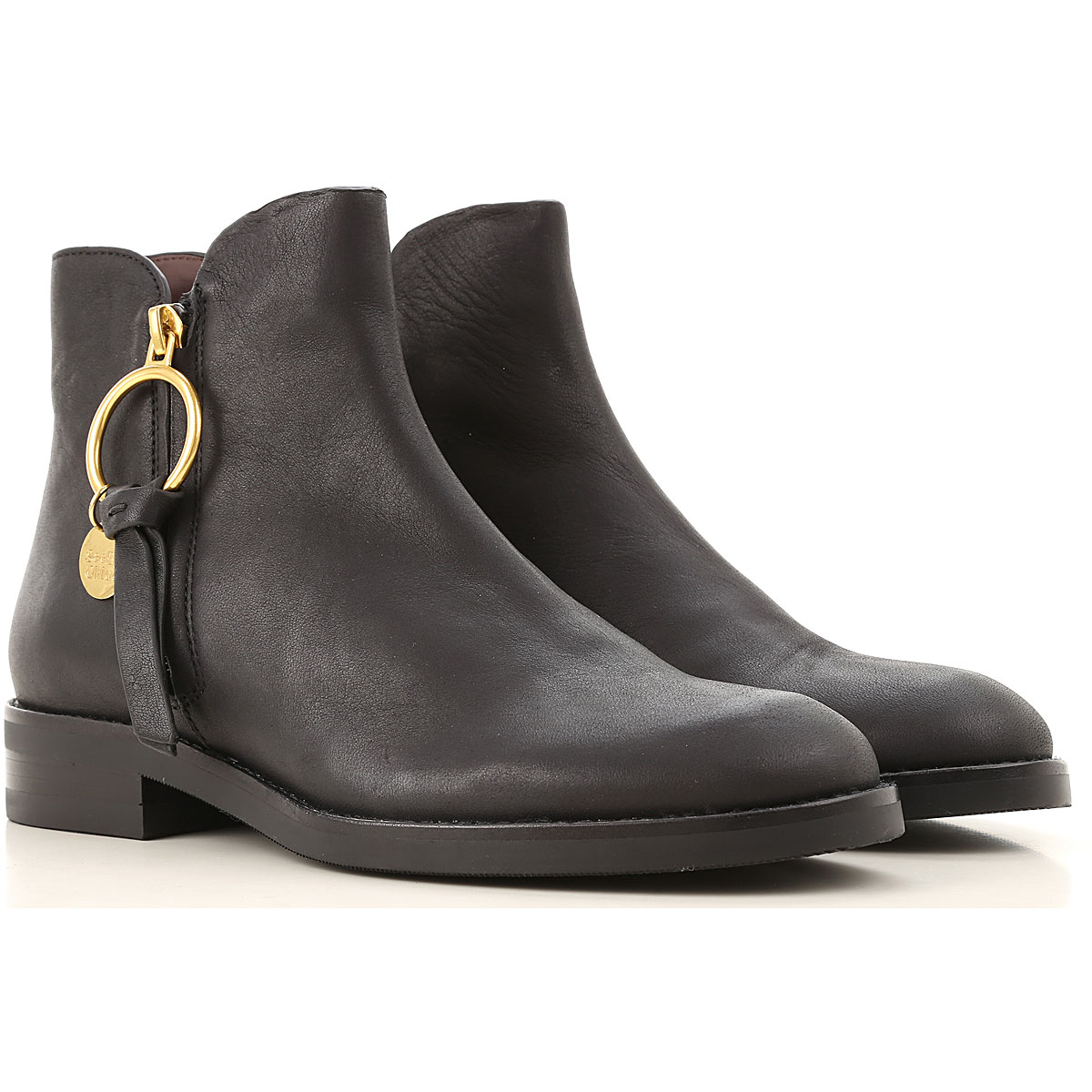 See By Chloe Boots for Women, Booties On Sale, Black, Leather, 2019, 10 11 6 7 8 9