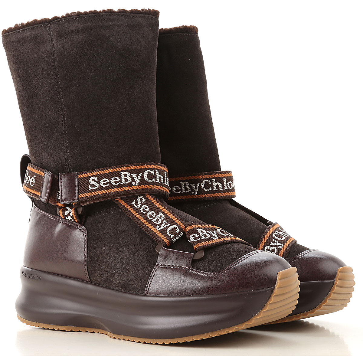 See By Chloe Boots for Women, Booties On Sale, Brown, Leather, 2019, 10 11 6 7 8 9