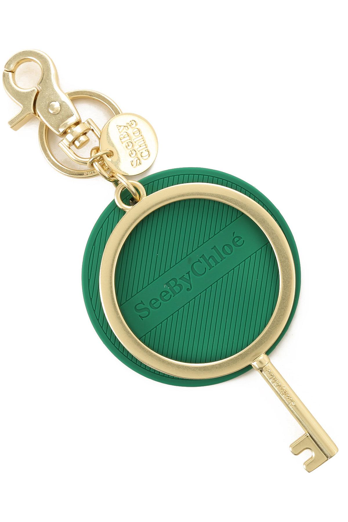 See By Chloe Key Chain for Women, Key Ring On Sale, Eternal Green, Polyvinyl Chloride, 2019