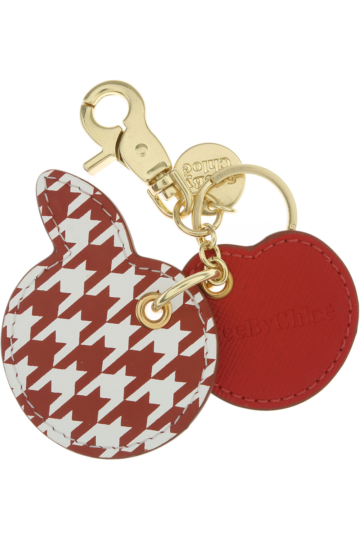 See By Chloe Key Chain for Women, Key Ring, Red, Leather, 2019