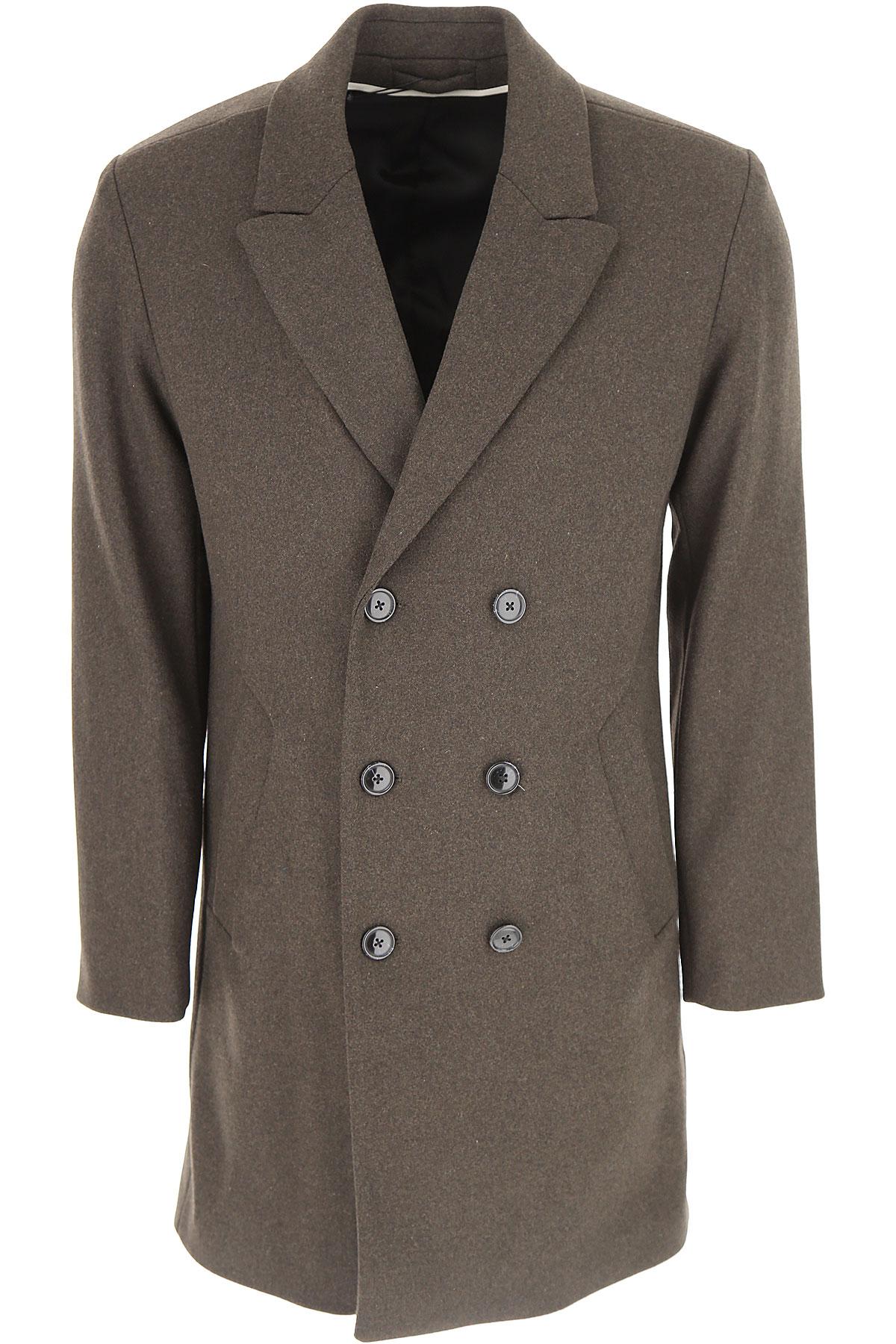 Image of Selected Men\'s Coat, Dark Brown, Wool, 2017, L M S XL