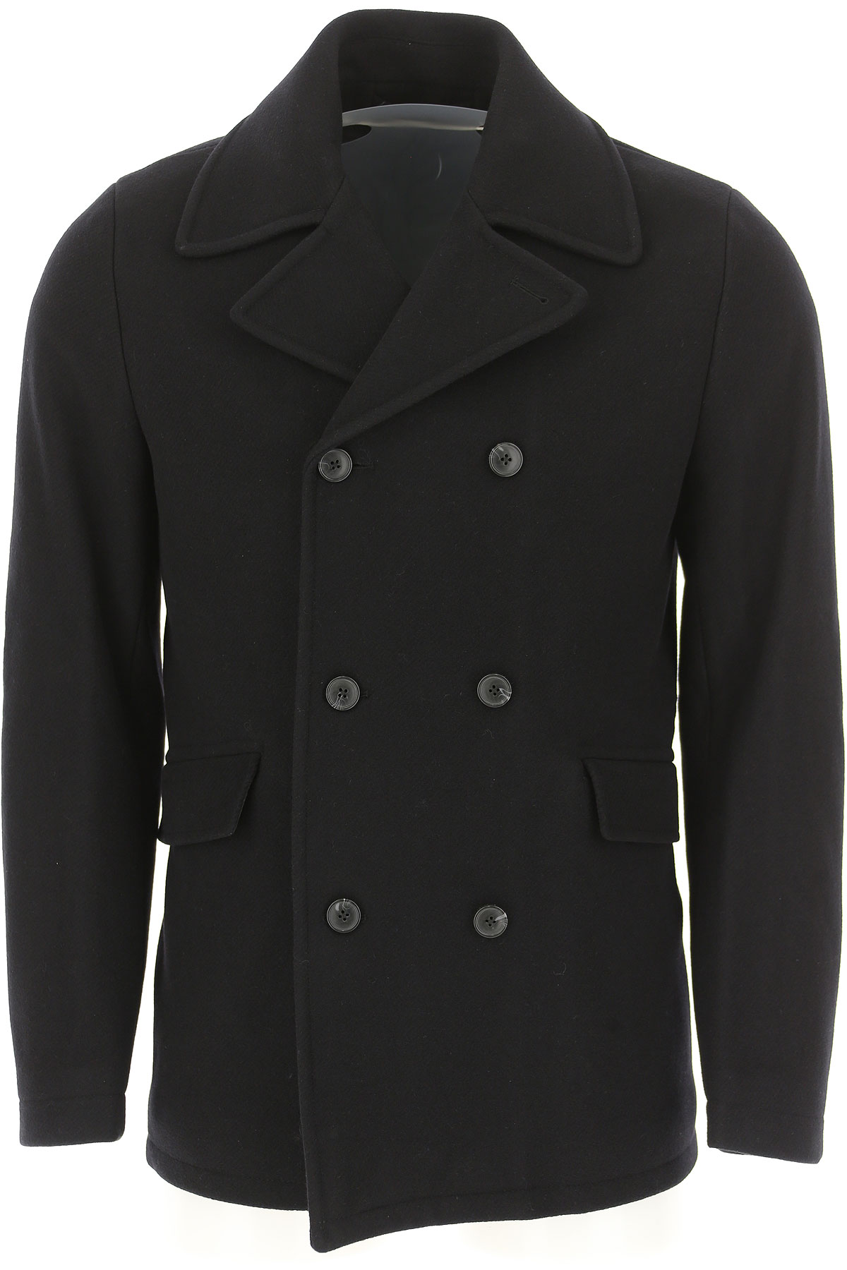 Image of Selected Men\'s Coat, Black, Virgin wool, 2017, L M XXS