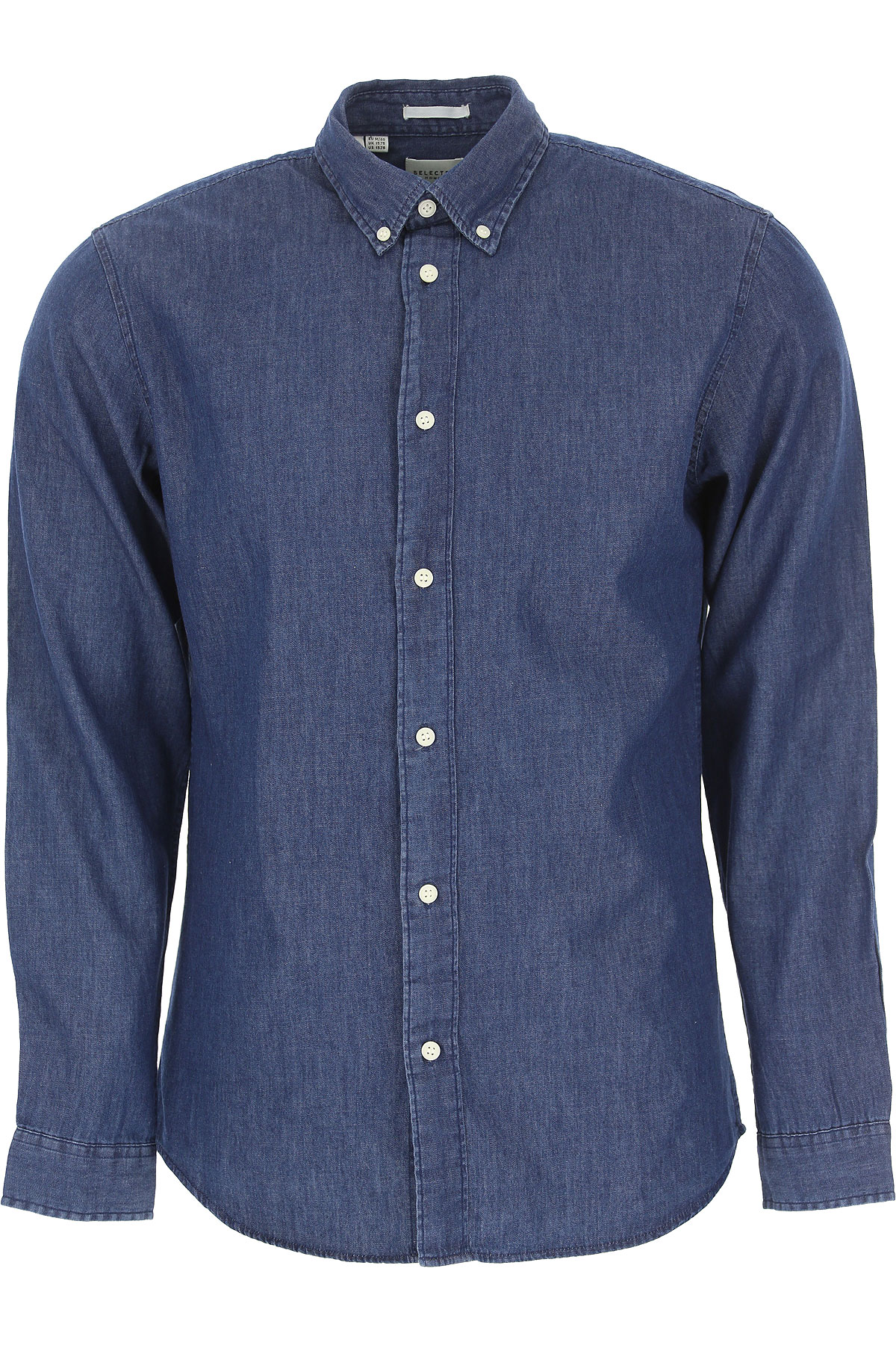Selected Shirt for Men On Sale, Dark Blue, Cotton, 2019, S • IT 46 L • IT 50
