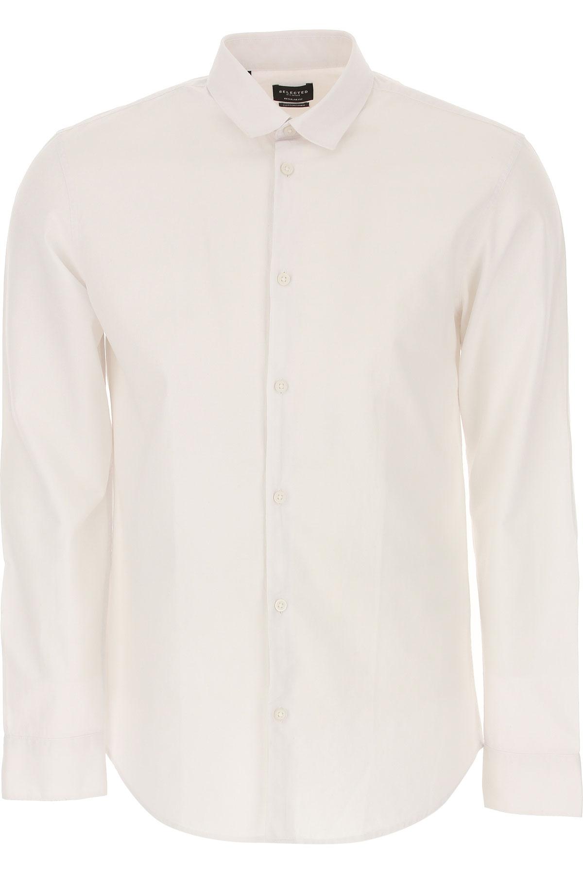 Selected Shirt for Men On Sale, White, Cotton, 2019, M • IT 48 L • IT 50 XL • IT 52