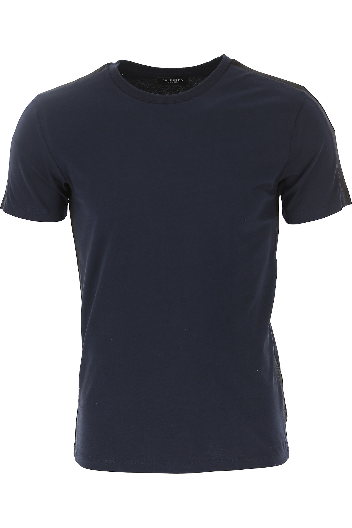 Selected T-Shirt for Men On Sale in Outlet, Dark Sapphire, Cotton, 2019, M XL