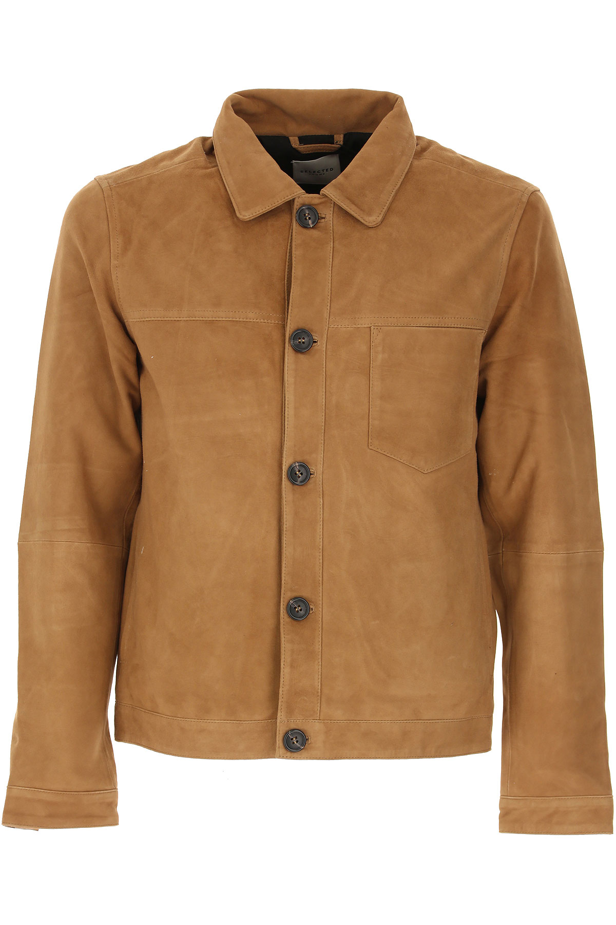 Selected Leather Jacket for Men On Sale, Camel, Leather, 2019, L M S XL