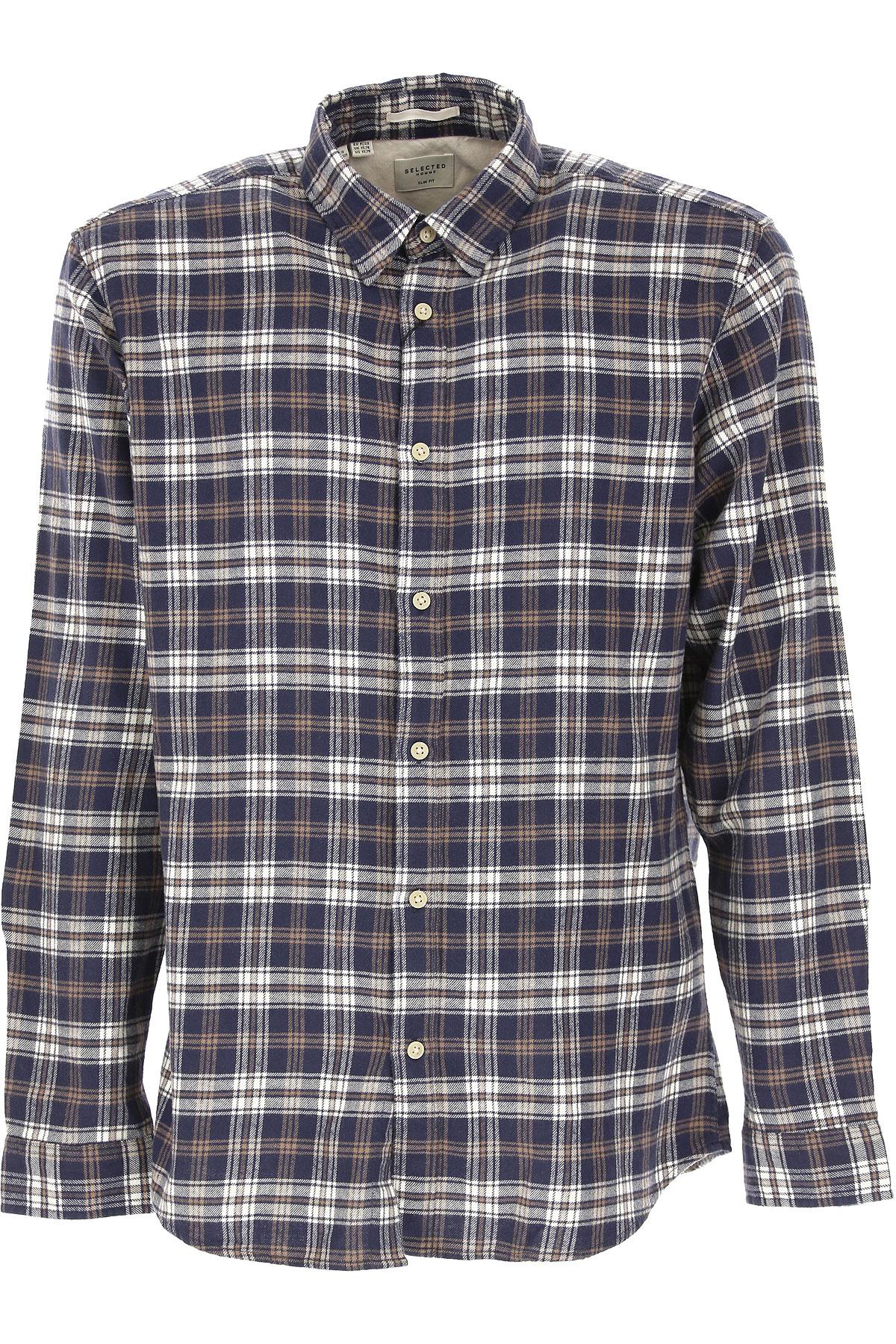 Selected Mens Clothing On Sale, Navy Blue, Cotton, 2019, S • IT 46 M • IT 48 L • IT 50