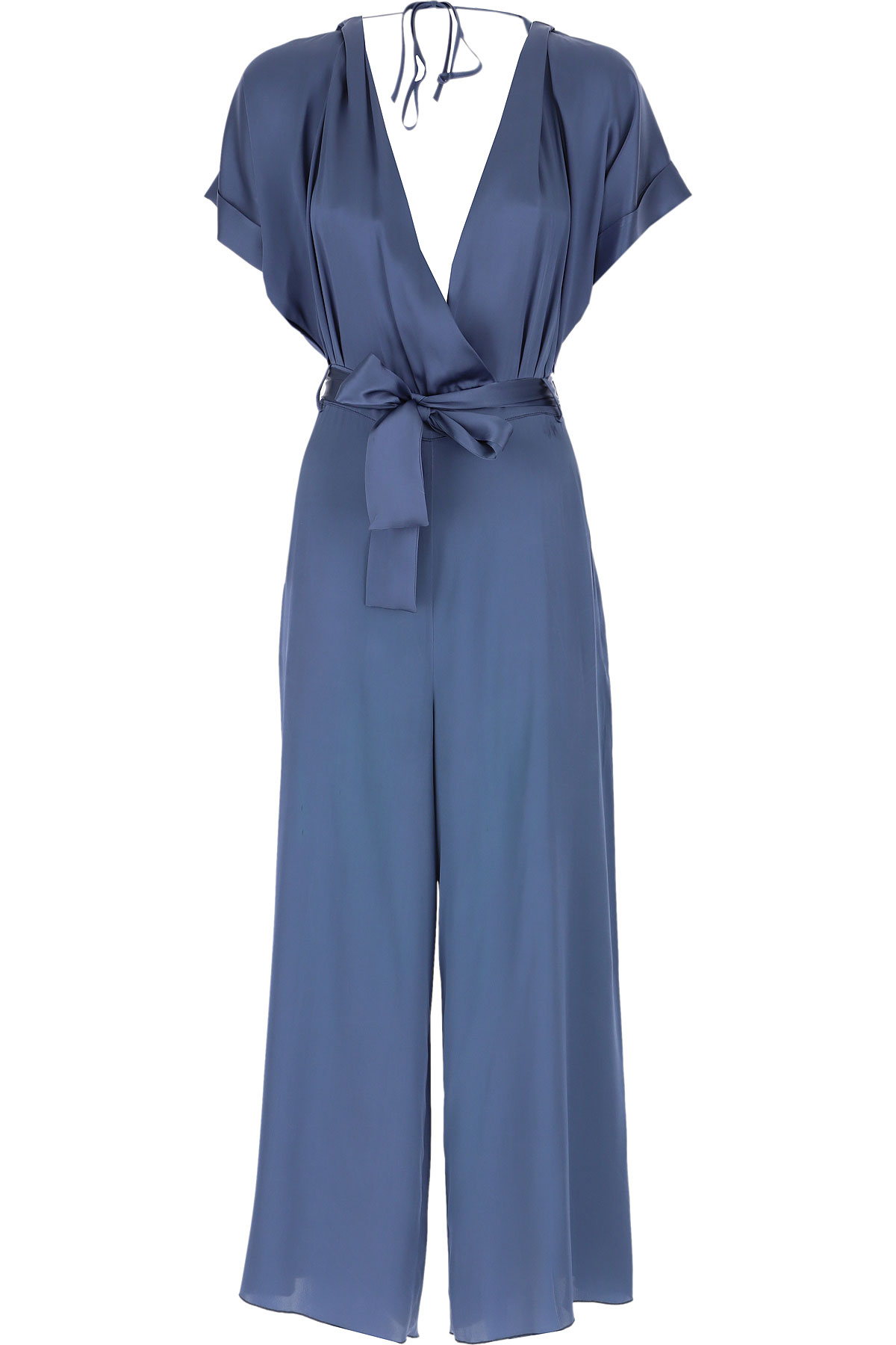 Semicouture Dress for Women, Evening Cocktail Party On Sale, Blue, acetate, 2019, 6 8