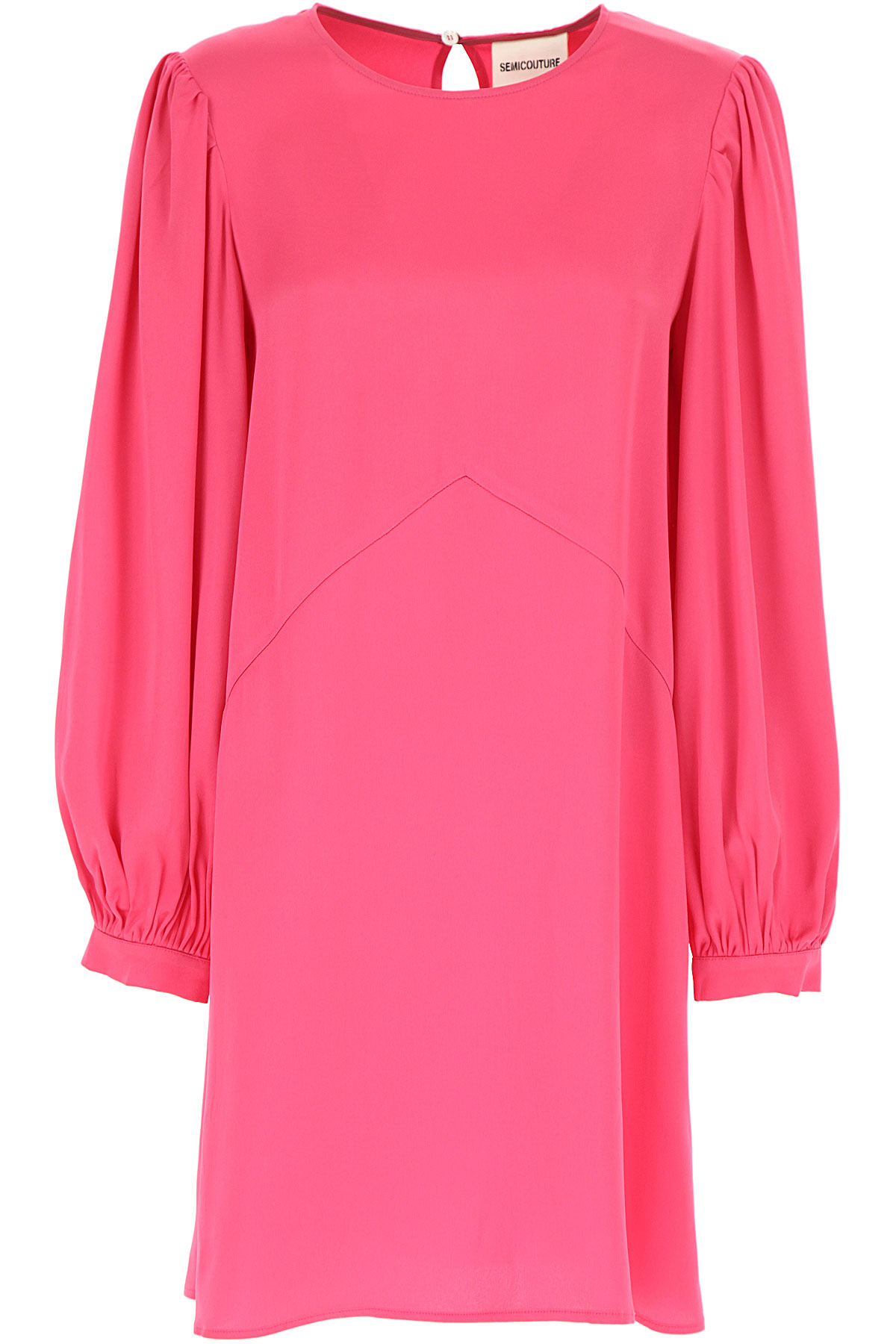 Semicouture Dress for Women, Evening Cocktail Party On Sale, Magenta, acetate, 2019, 4 8