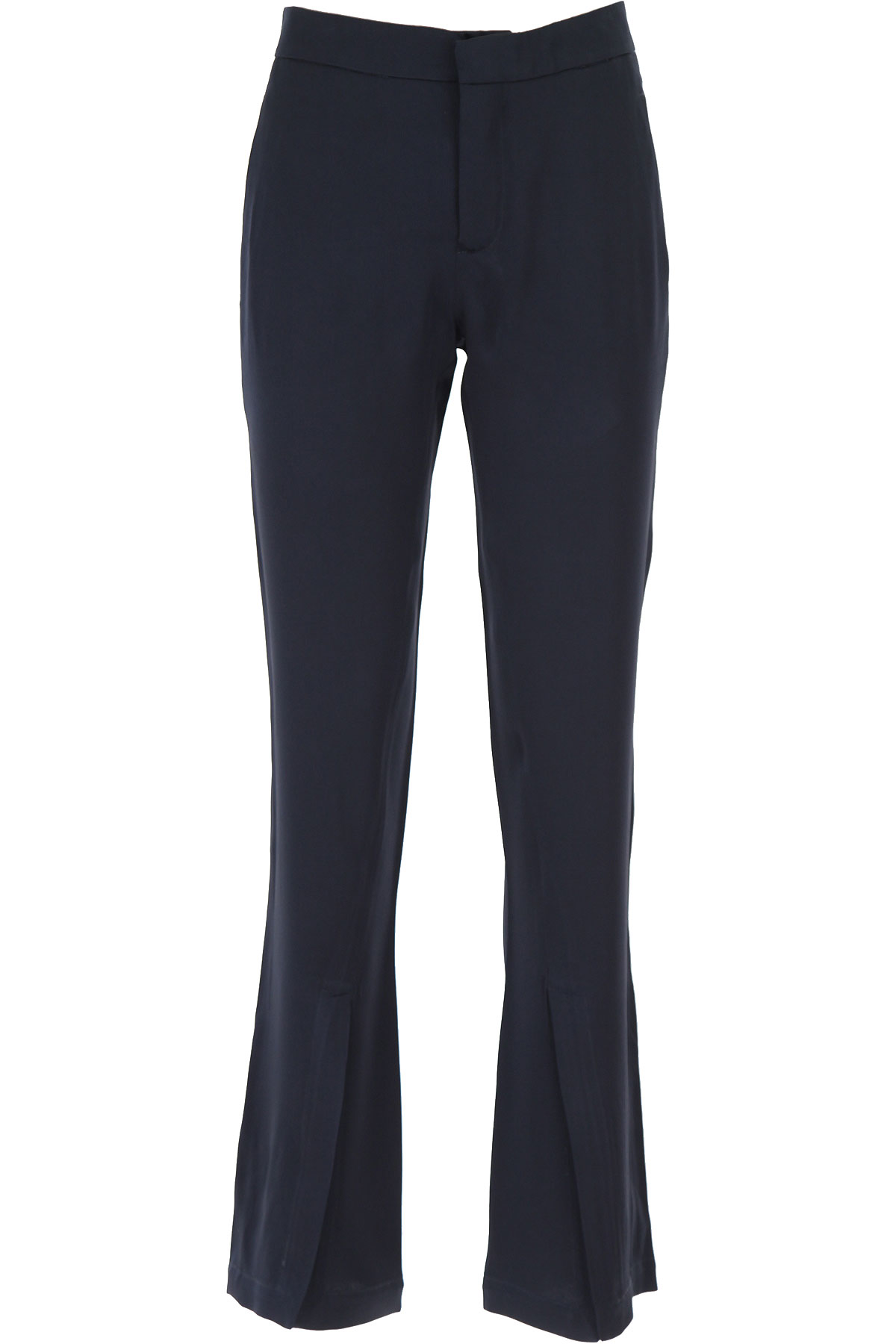 Semicouture Pants for Women On Sale, Midnight Blue, acetate, 2019, 8