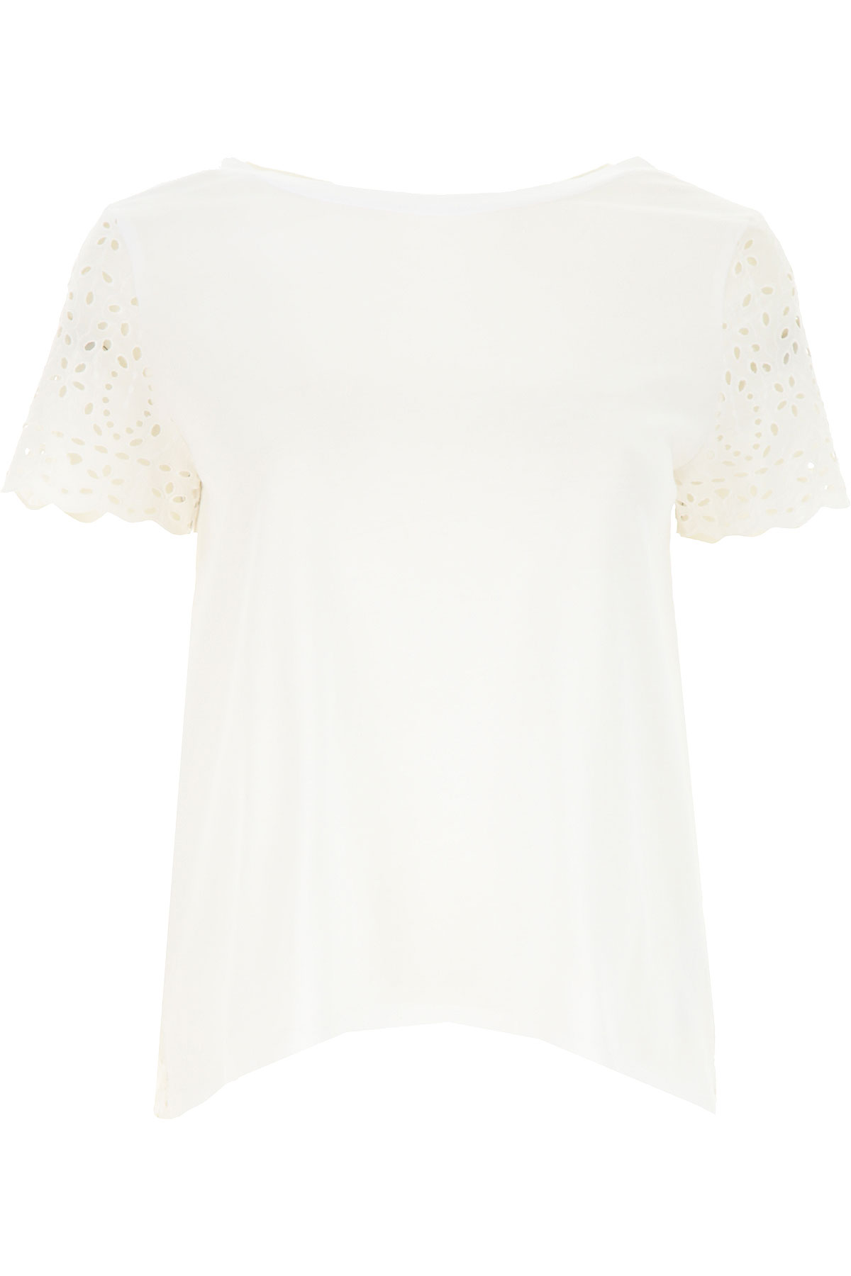 Semicouture Top for Women On Sale, White, Cotton, 2019, 4 6