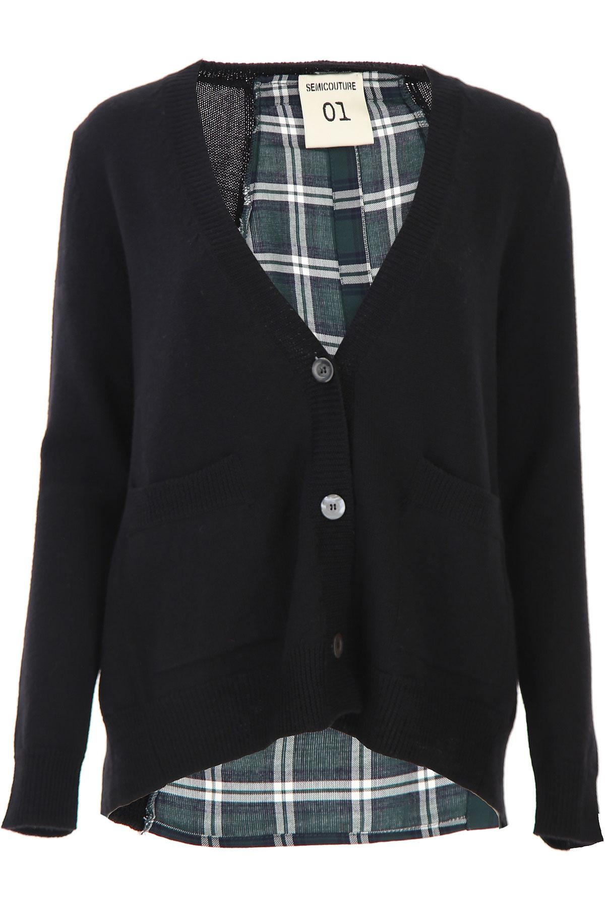 Semicouture Sweater for Women Jumper On Sale, Black, Virgin wool, 2019, 2 6