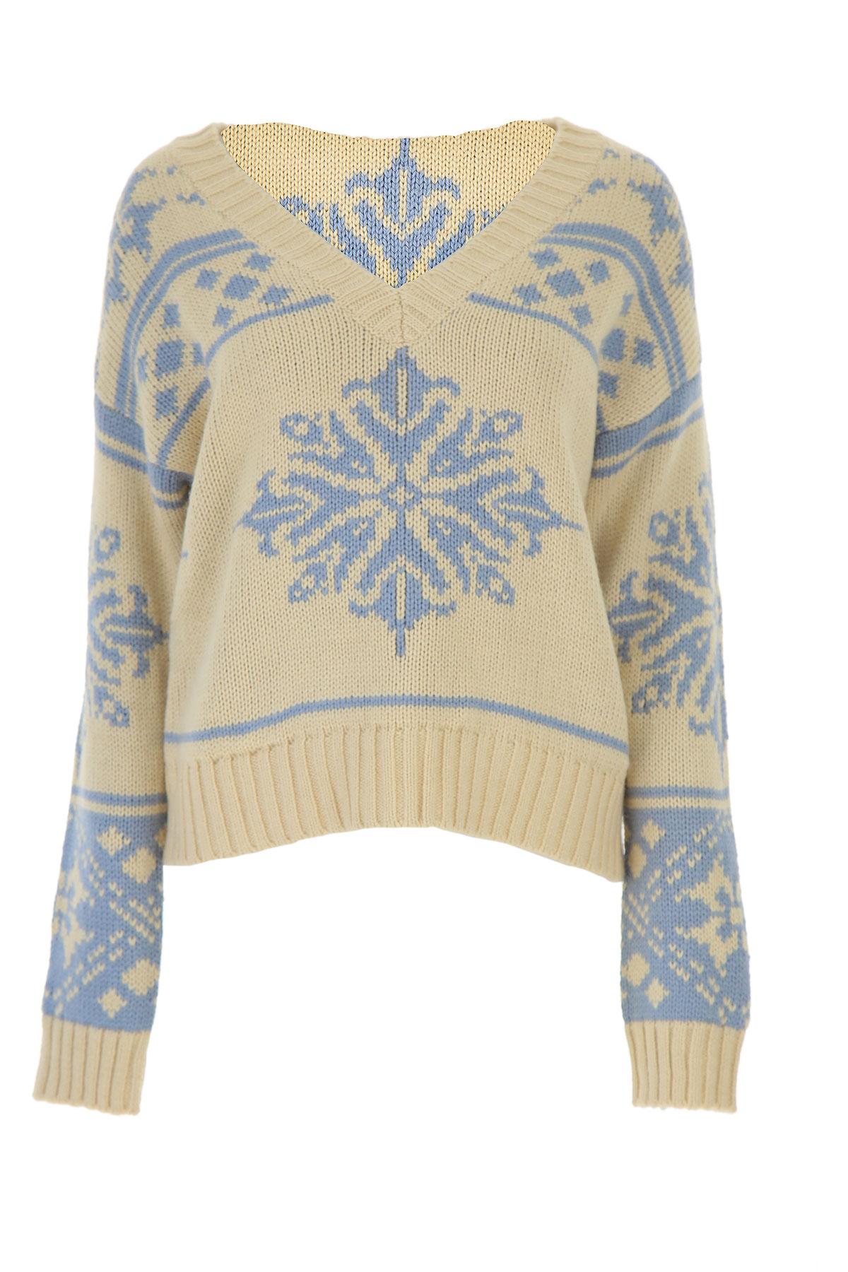 Semicouture Sweater for Women Jumper On Sale, Ecru, Acrylic, 2019, 4 6