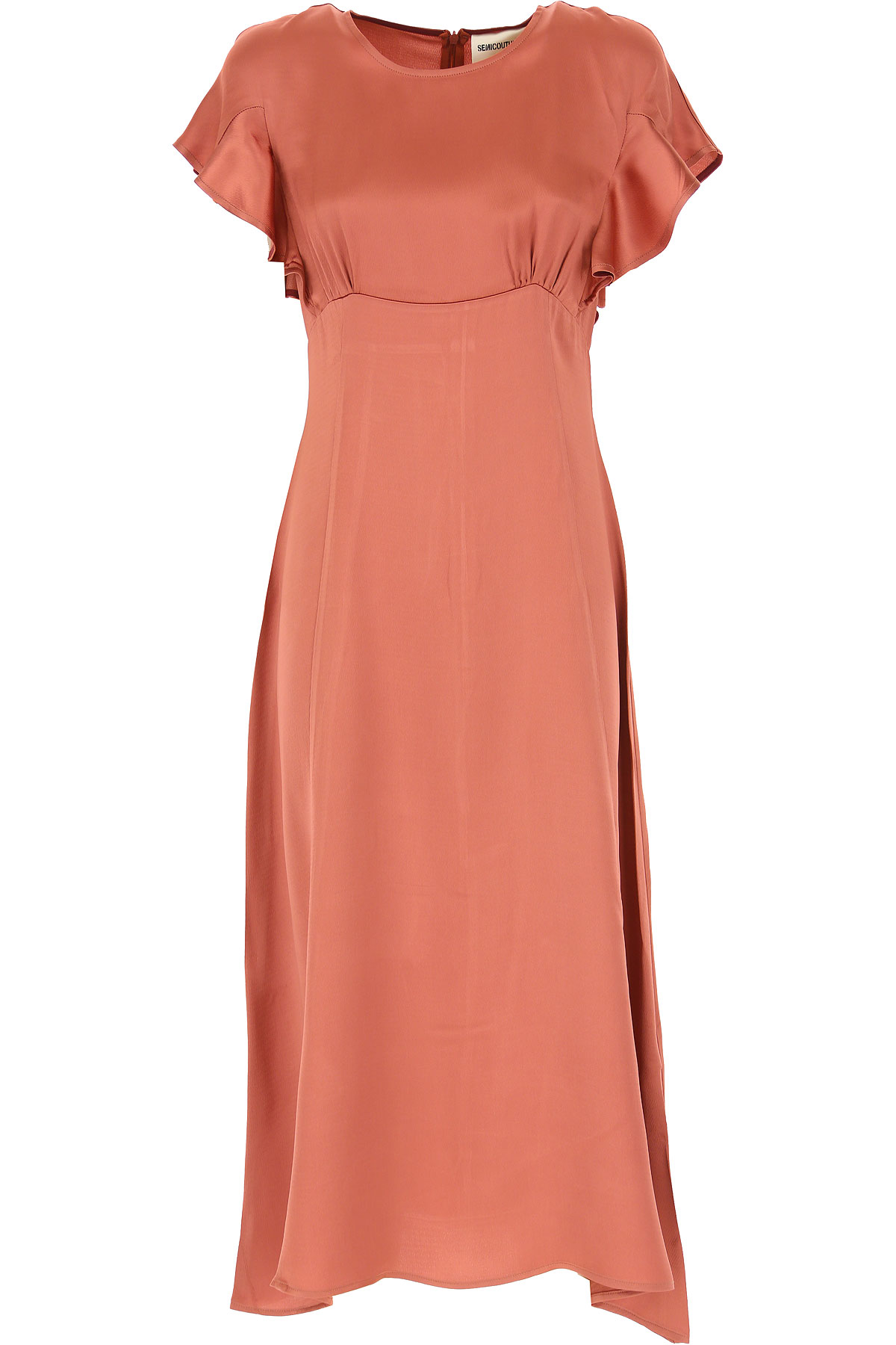 Semicouture Dress for Women, Evening Cocktail Party On Sale, Cammeo, viscosa, 2019, 4 6 8