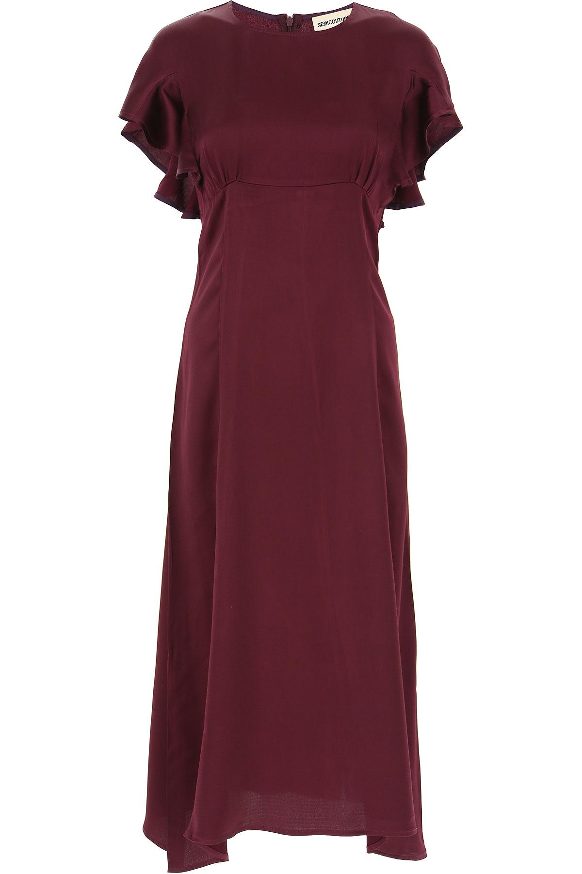 Semicouture Robe Femme, Prune, Viscose, 2019, 44 46 M