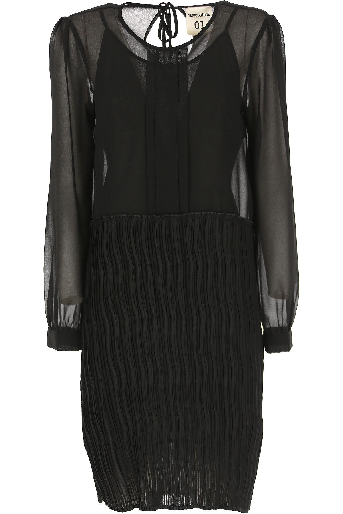 Semicouture Robe Femme Pas cher en Soldes, Noir, Polyester, 2019, 38 44 M