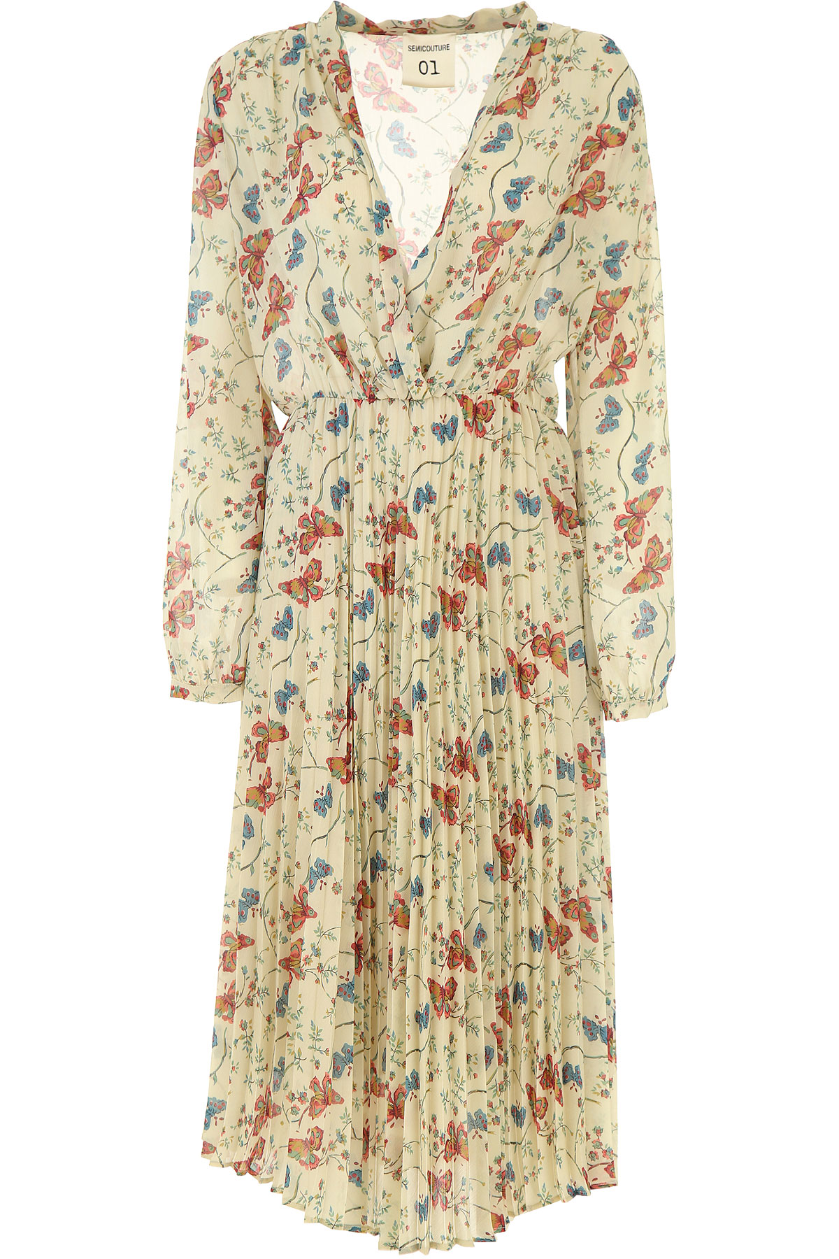 Semicouture Robe Femme, Ivoire, Polyester, 2019, 40 44 M