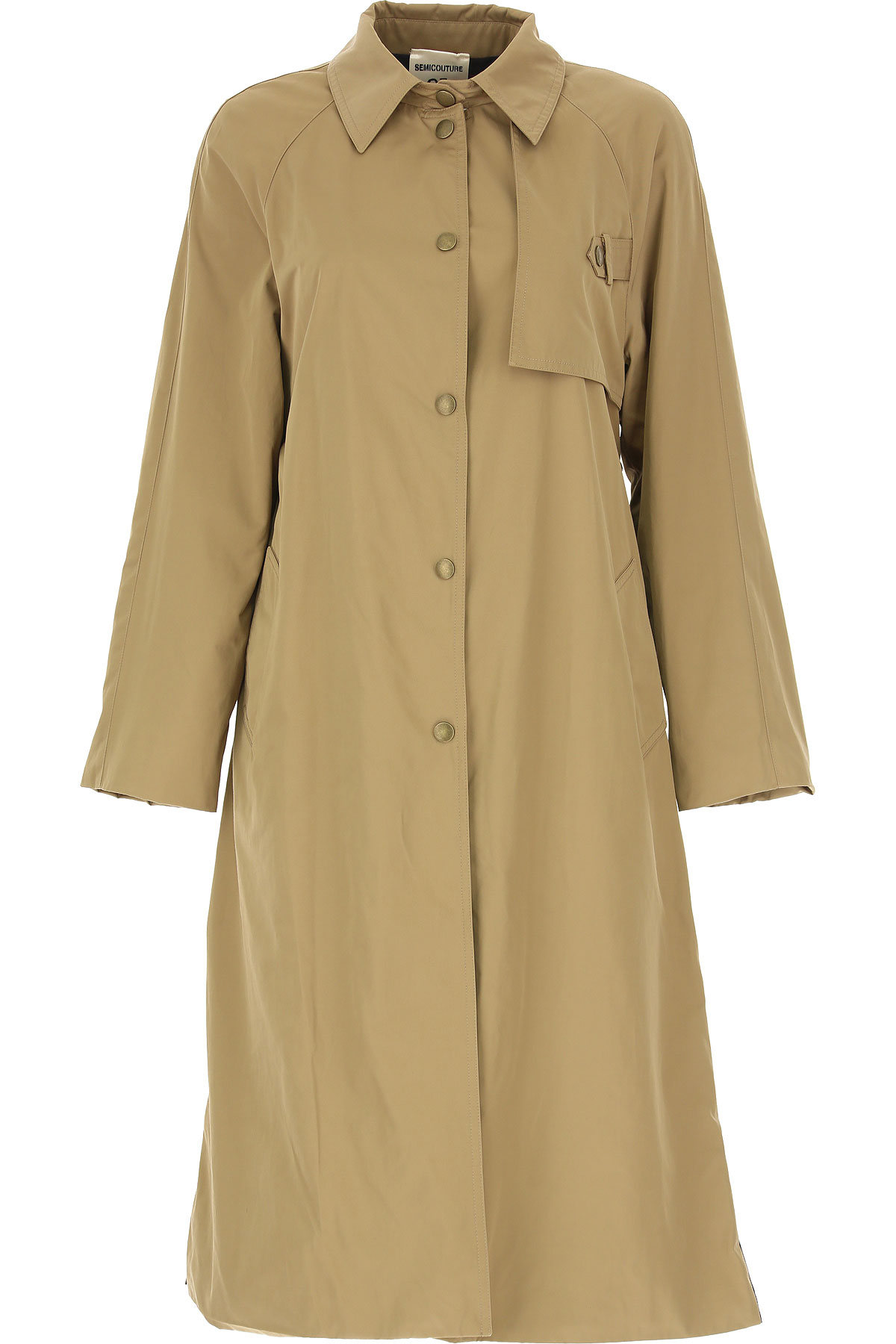 Semicouture Manteau Femme, Beige, Polyester, 2019, 40 M