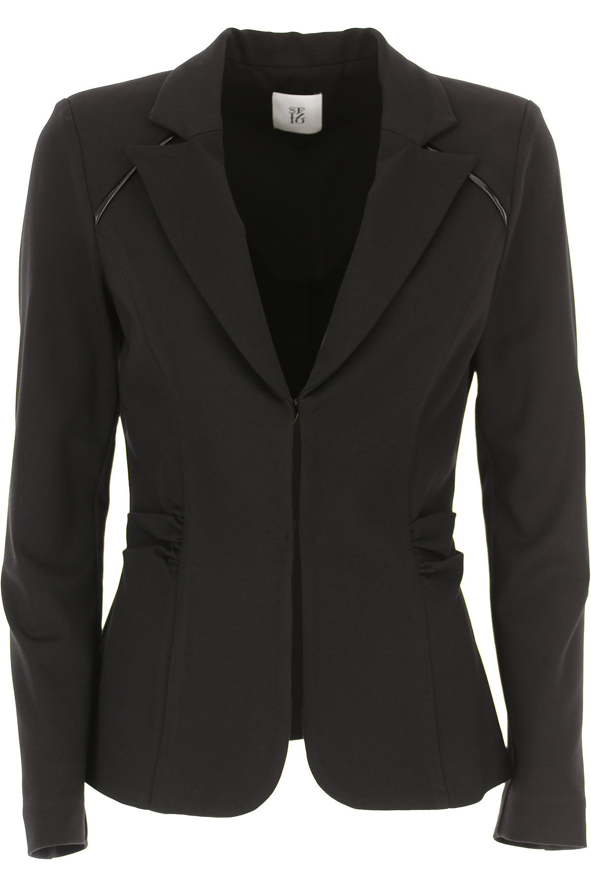 Image of Sfizio Blazer for Women, Black, Viscose, 2017, 10 6 8