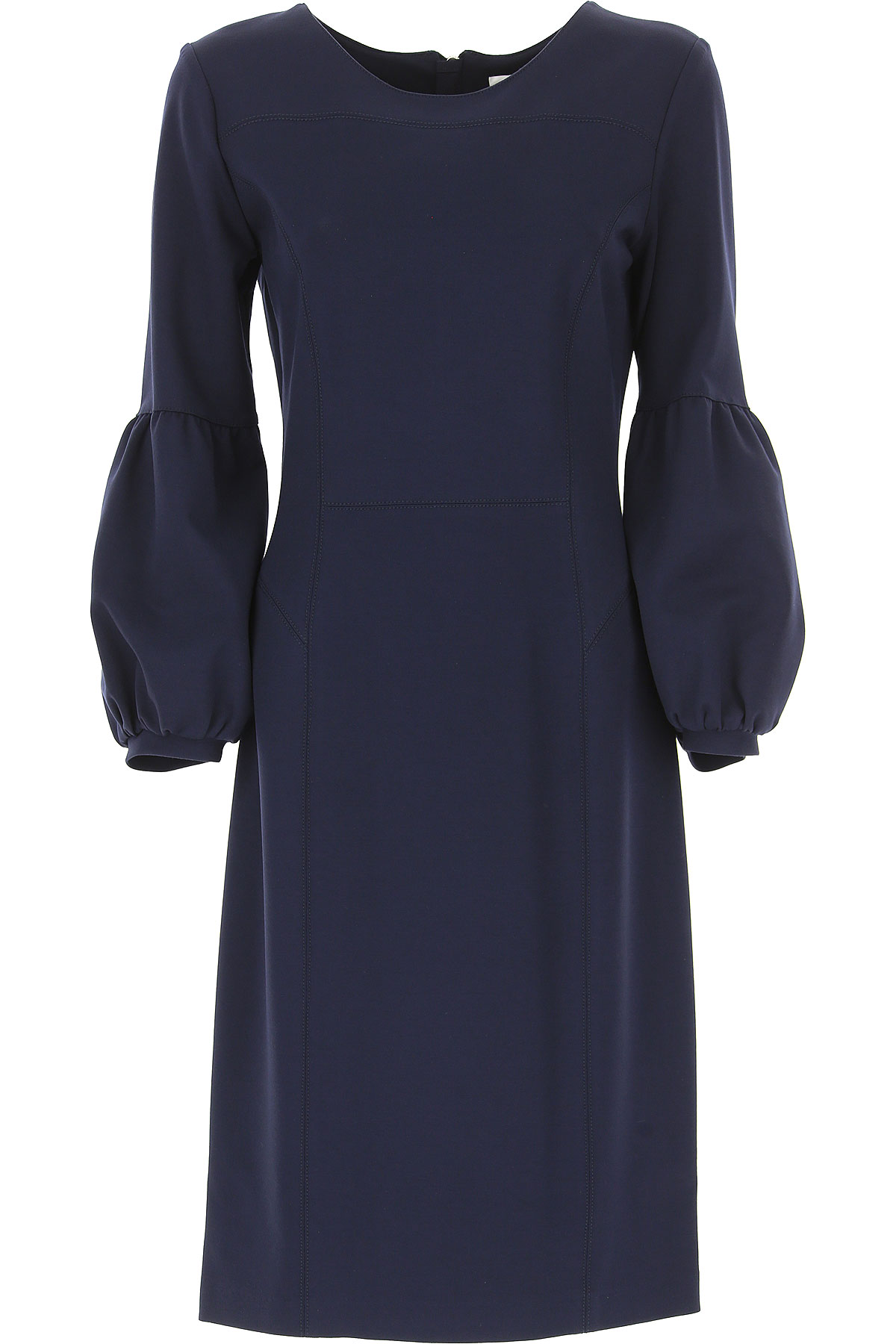 Image of Sfizio Dress for Women, Evening Cocktail Party, Midnight Blue, polyester, 2017, 10 12 6 8
