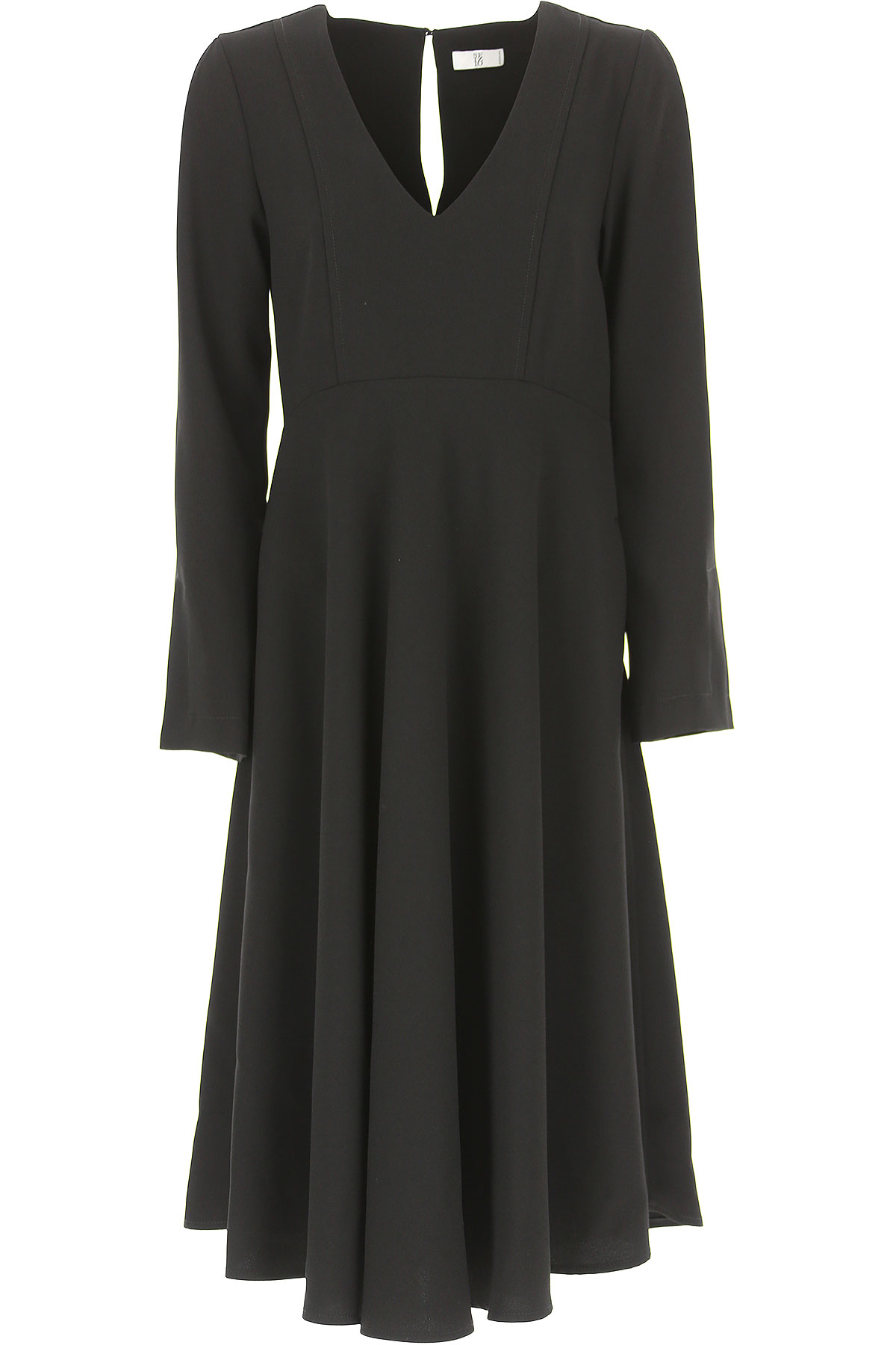 Image of Sfizio Dress for Women, Evening Cocktail Party, Black, polyester, 2017, 12 6 8