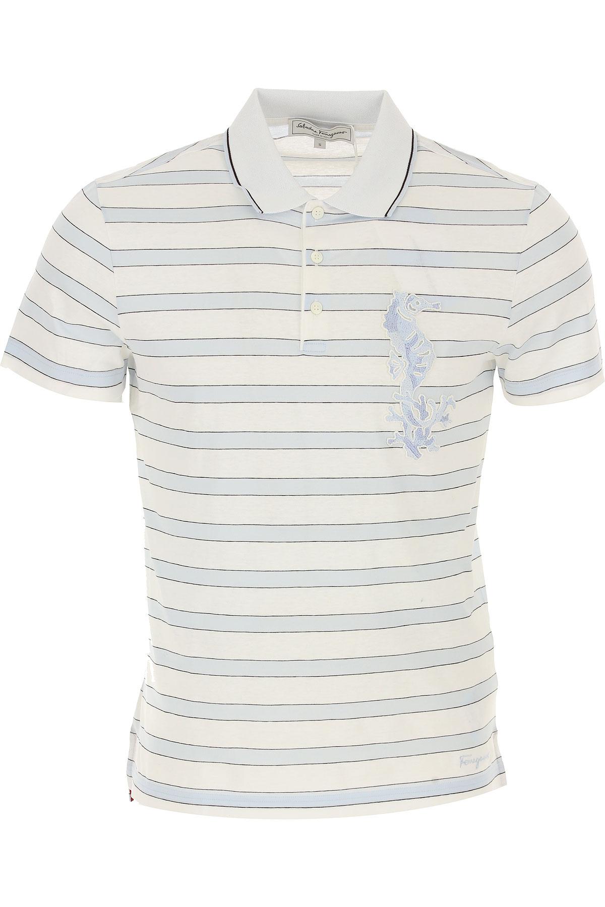 Salvatore Ferragamo Koszulka Polo Dla Mężczyzn Na Wyprzedaży, Biały, Bawełna, 2019, L S