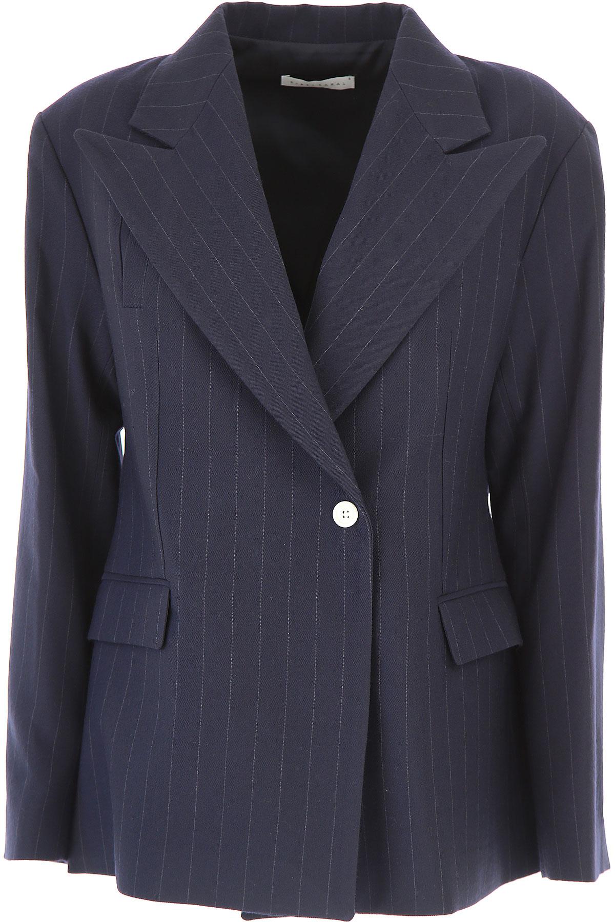 Image of Sibel Saral Blazer for Women, Dark Navy Blue, Virgin wool, 2017, 4 6