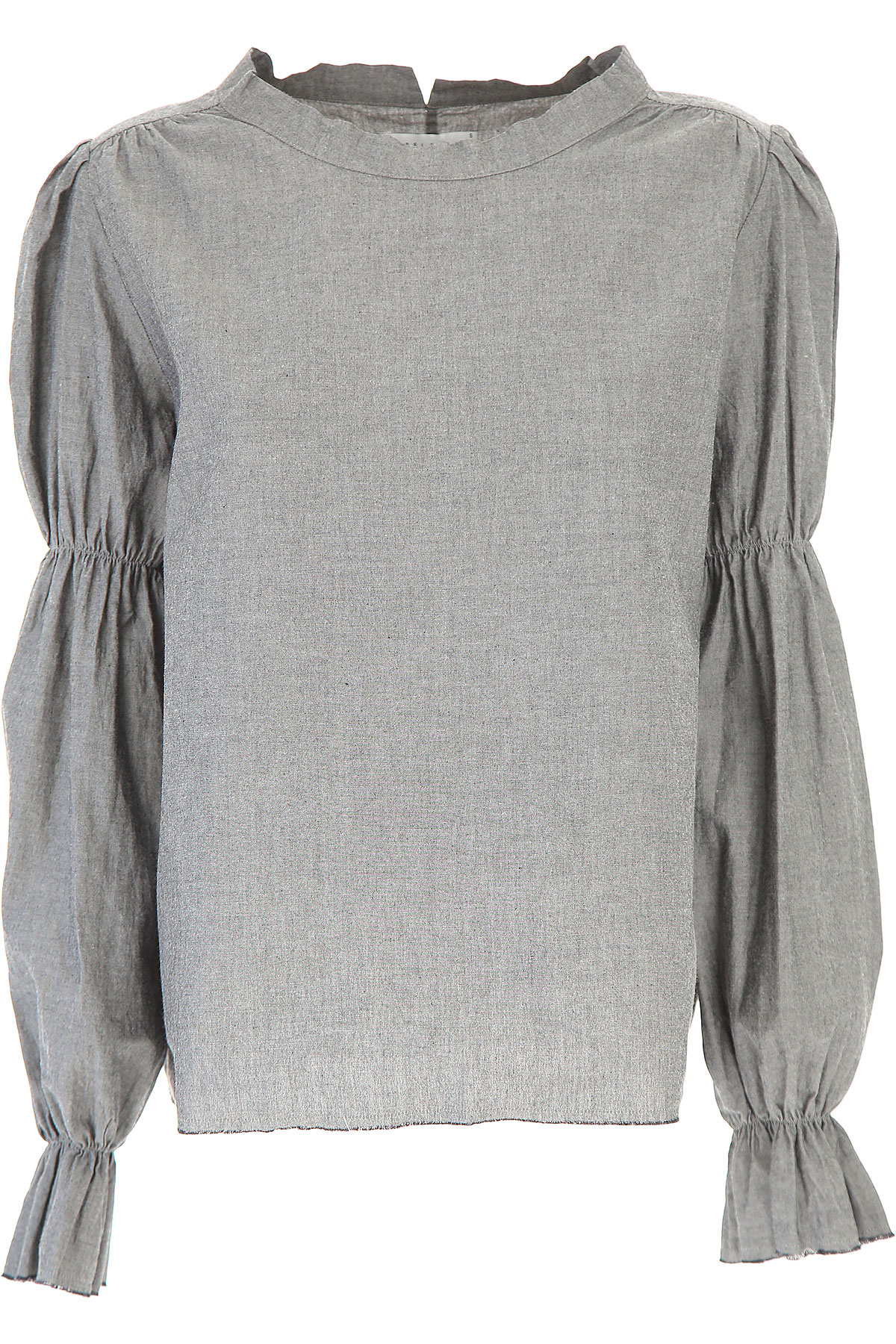 Image of Sibel Saral Top for Women, Grey, Cotton, 2017, 4 6