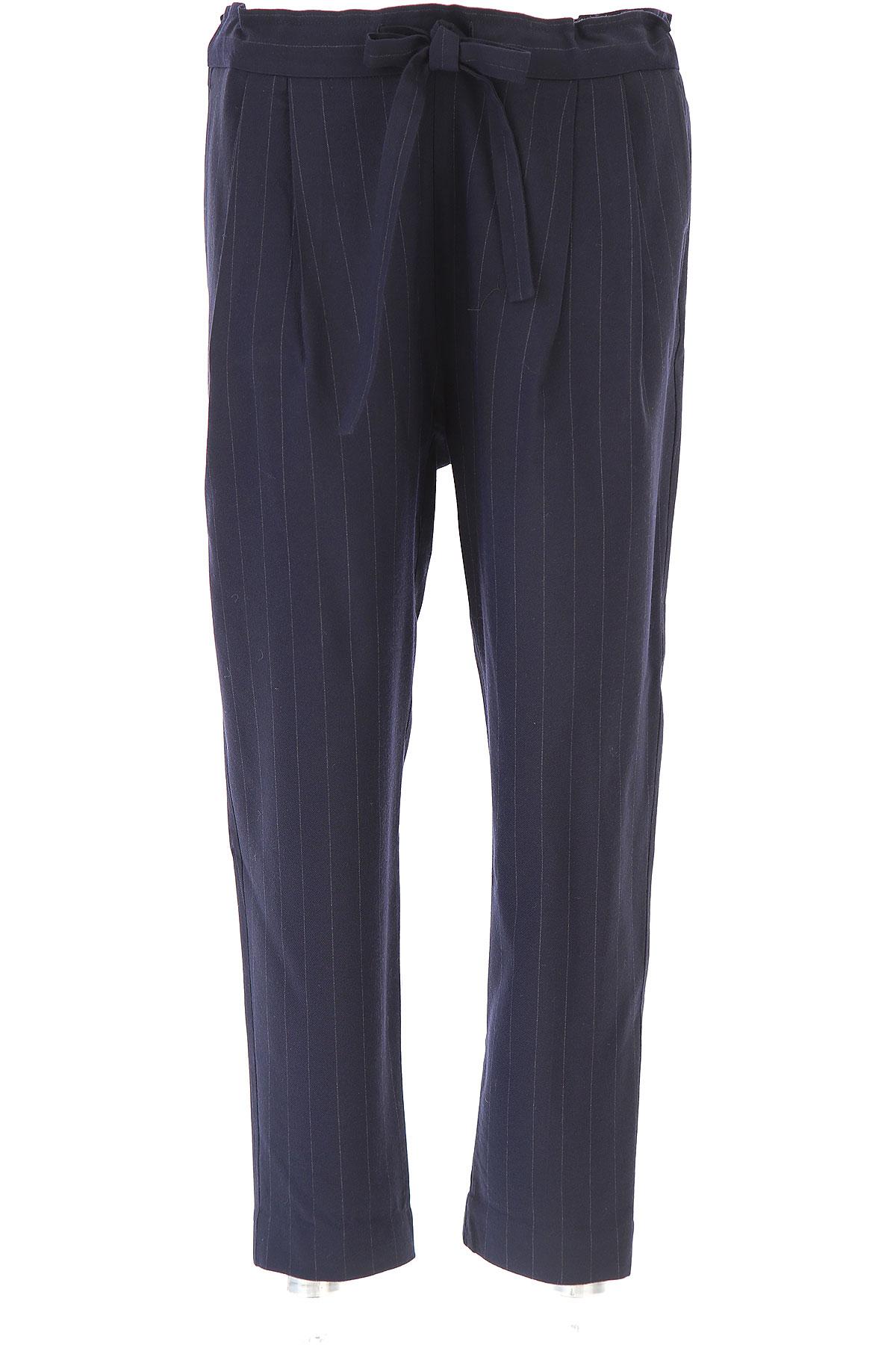 Image of Sibel Saral Pants for Women, Navy Blue, Virgin wool, 2017, 4 6