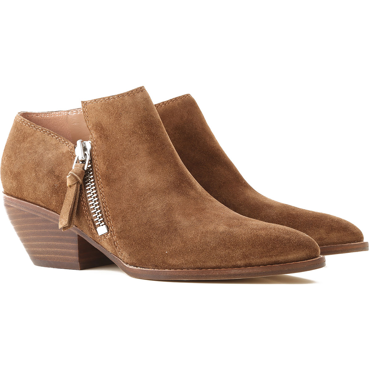 Image of Sigerson Morrison Boots for Women, Booties, Cigar, Suede leather, 2017, 7 8