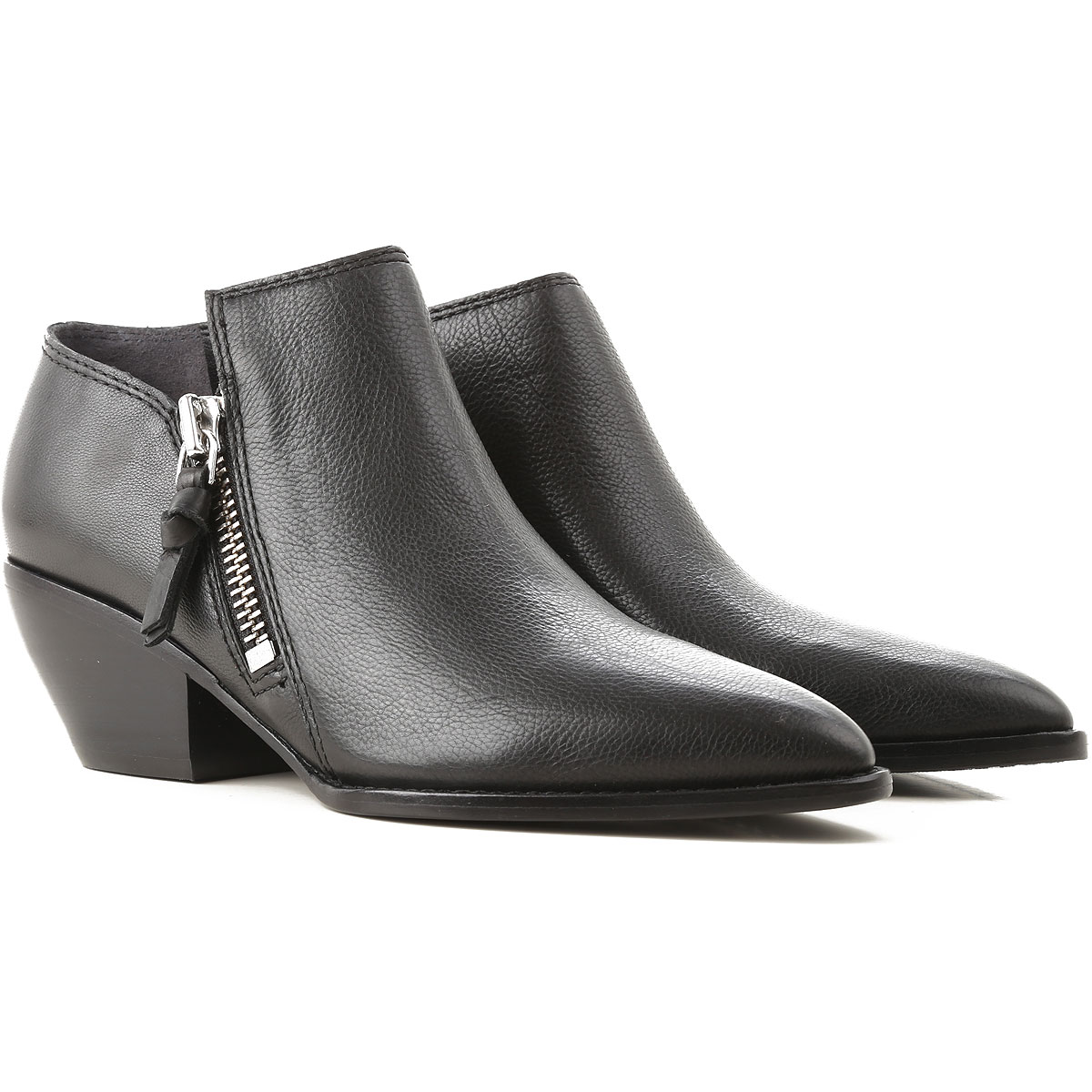 Image of Sigerson Morrison Boots for Women, Booties, Black, Leather, 2017, 7 8