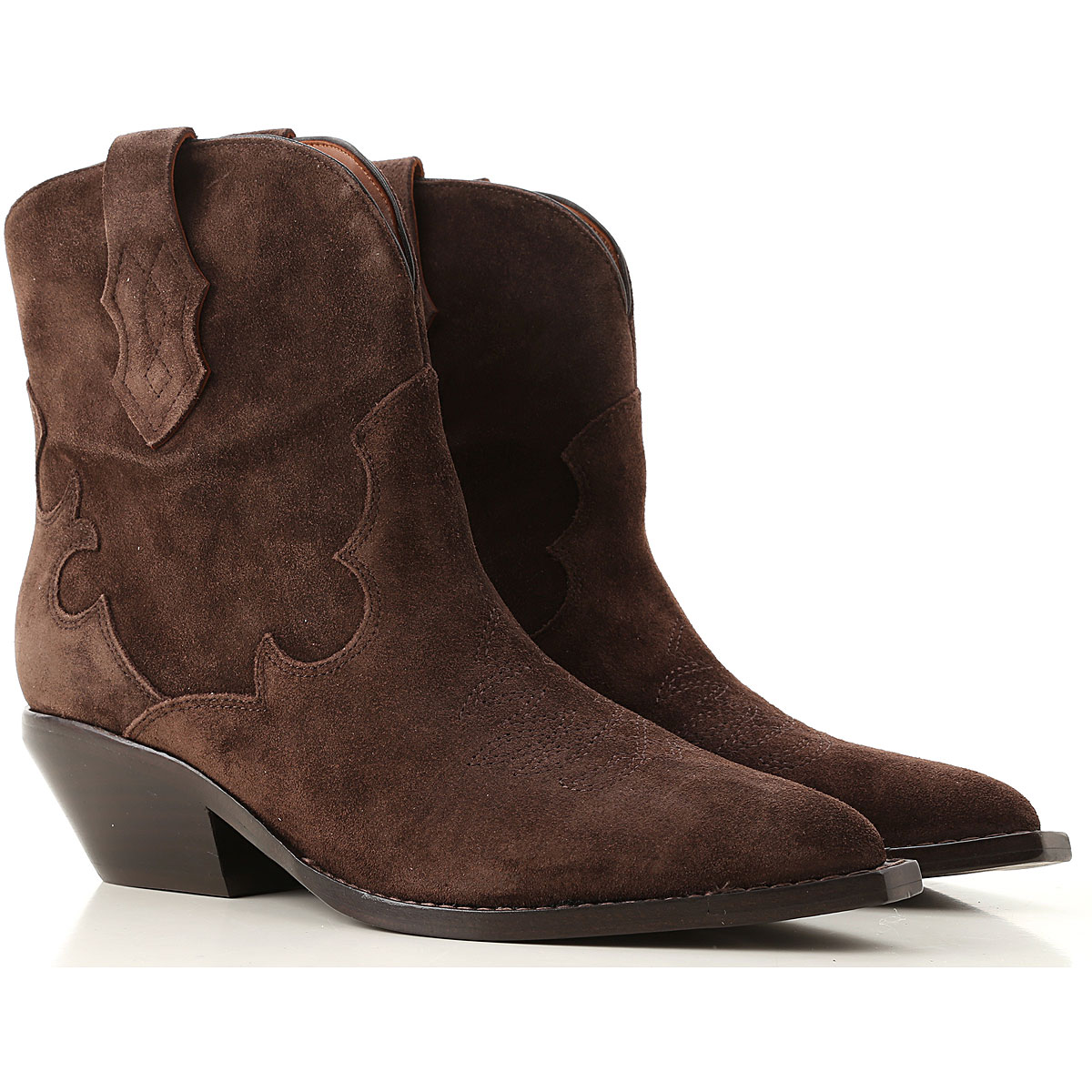 Sigerson Morrison Boots for Women, Booties On Sale, Walnut Wood, Suede leather, 2019, 10 7 8