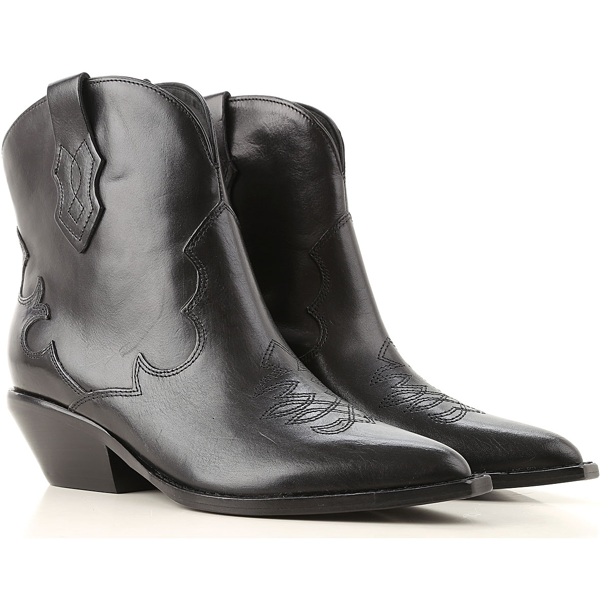 Sigerson Morrison Boots for Women, Booties On Sale, Black, Leather, 2019, 10 7