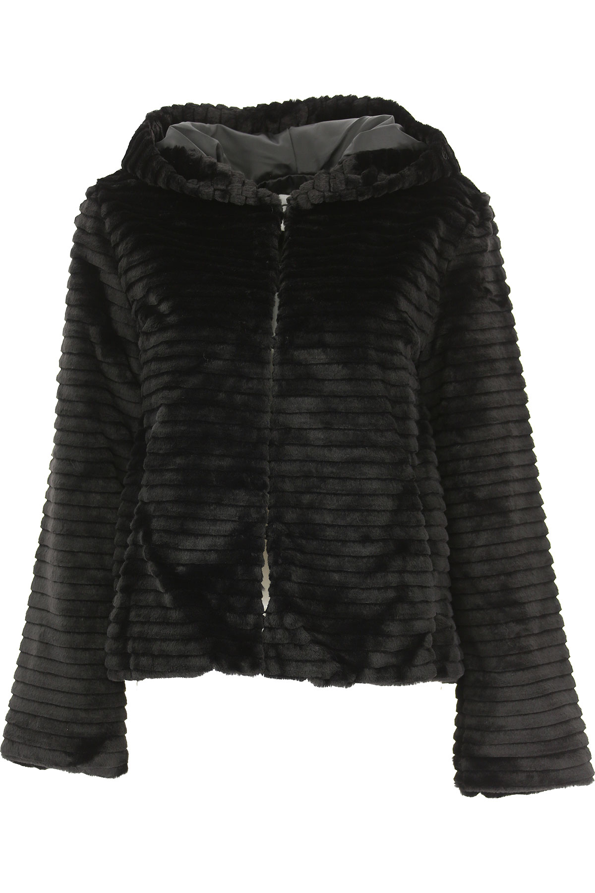 Image of Silvian Heach Jacket for Women, Black, polyester, 2017, 10 4 6 8