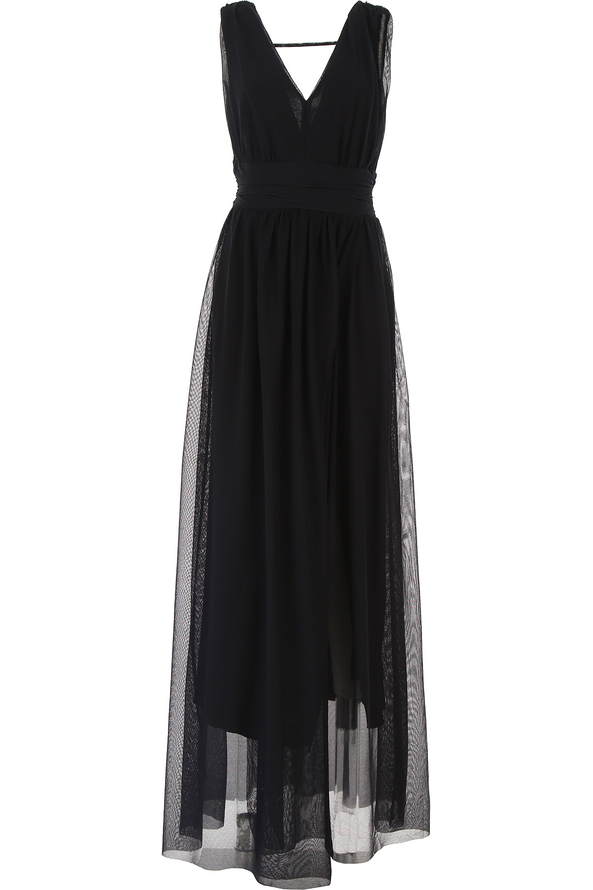 Silvian Heach Dress for Women, Evening Cocktail Party On Sale, Black, polyester, 2019, 4