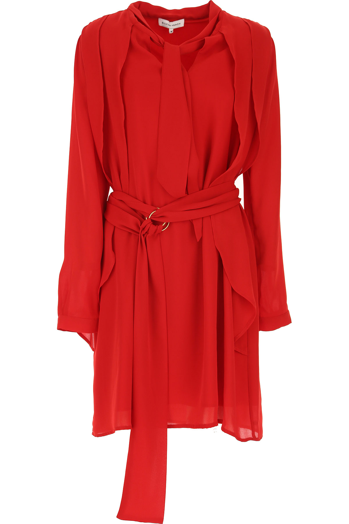 Image of Silvian Heach Dress for Women, Evening Cocktail Party, Red, polyester, 2017, 10 4 6 8