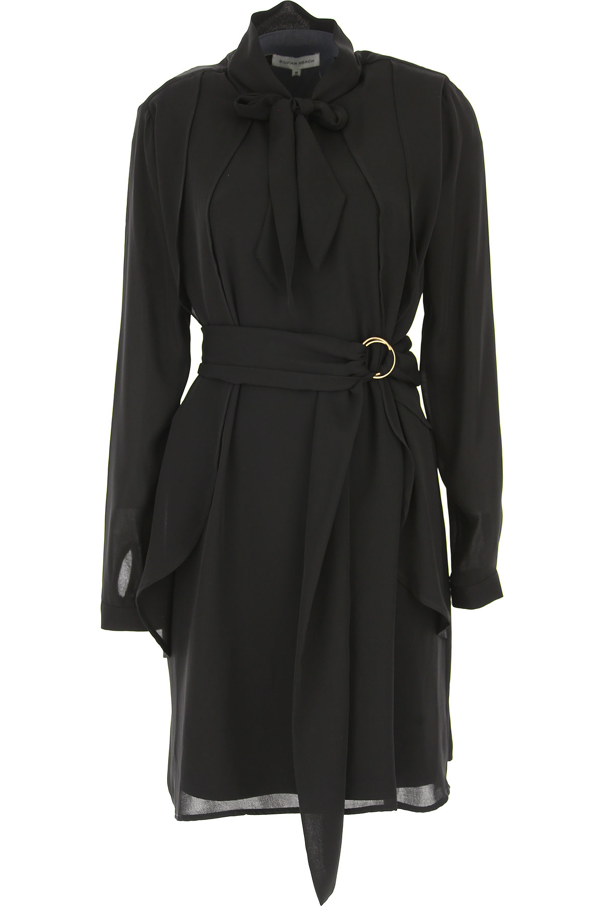 Image of Silvian Heach Dress for Women, Evening Cocktail Party, Black, polyester, 2017, 10 4 6 8