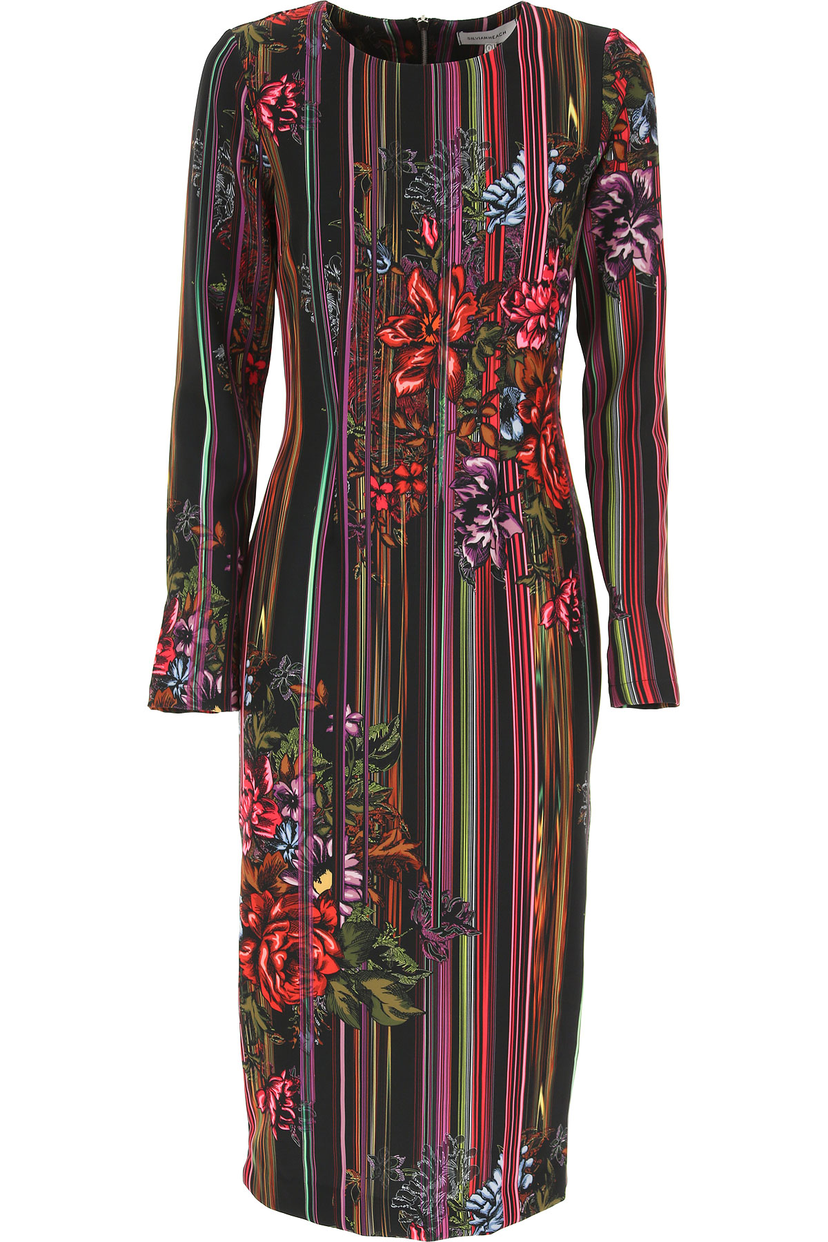 Image of Silvian Heach Dress for Women, Evening Cocktail Party, Multicolor, polyester, 2017, 10 4 6 8