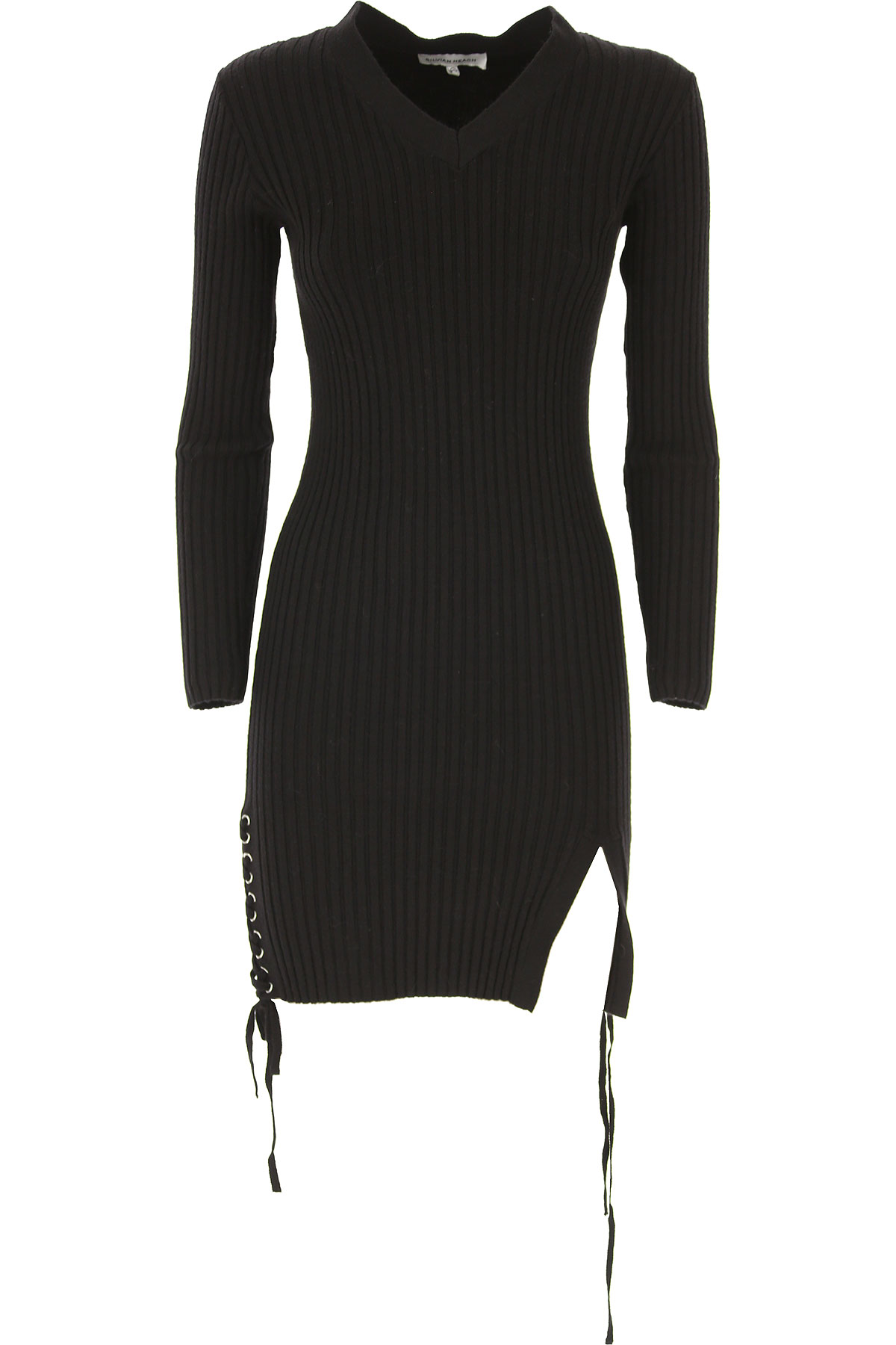 Image of Silvian Heach Dress for Women, Evening Cocktail Party, Black, Viscose, 2017, 10 4 8