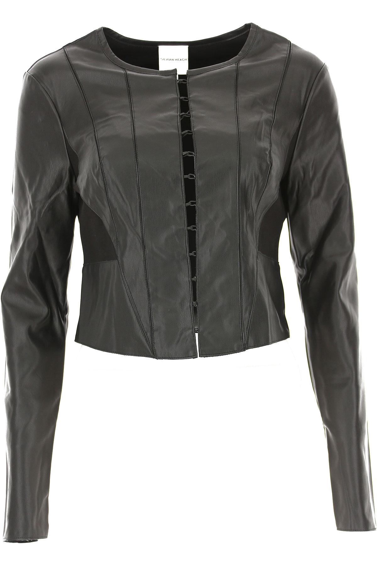 Image of Silvian Heach Jacket for Women, Black, polyurethane, 2017, 10 4 6 8
