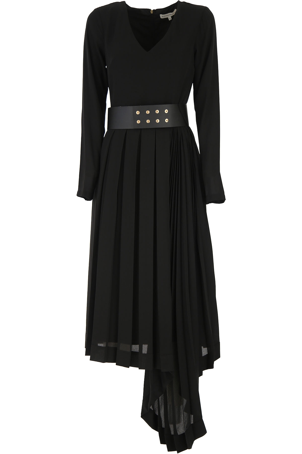 Silvian Heach Dress for Women, Evening Cocktail Party On Sale, Black, polyester, 2019, 2 4 6