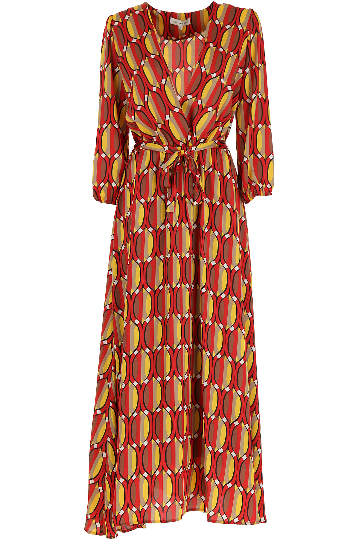 Silvian Heach Dress for Women, Evening Cocktail Party On Sale, Multicolor, polyester, 2019, 2 4 6