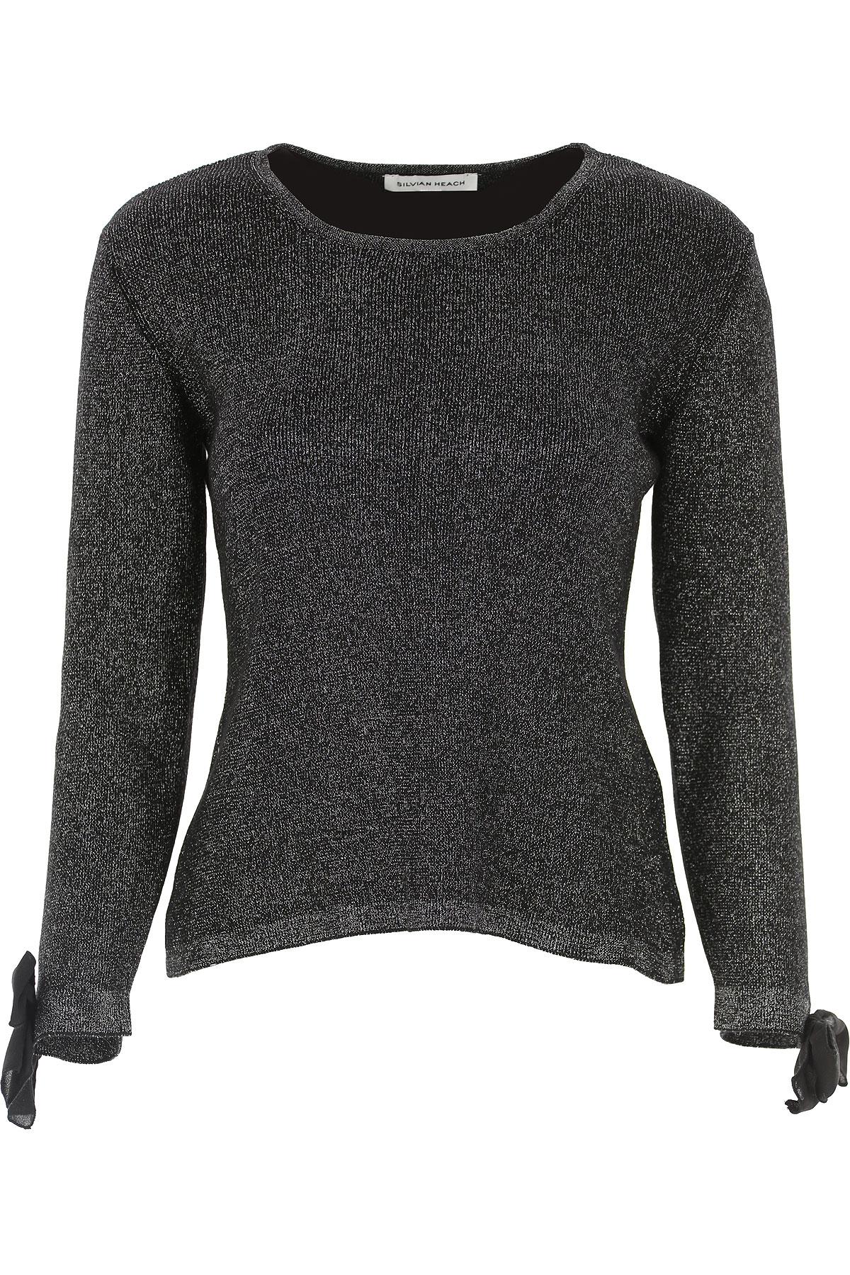 Silvian Heach Sweater for Women Jumper On Sale, Black, Cotton, 2019, 4 8