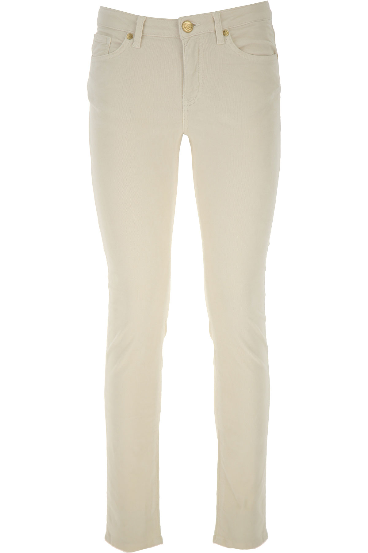 Silvian Heach Jeans On Sale, Light Cream, Cotton, 2019, 25 28 29 30