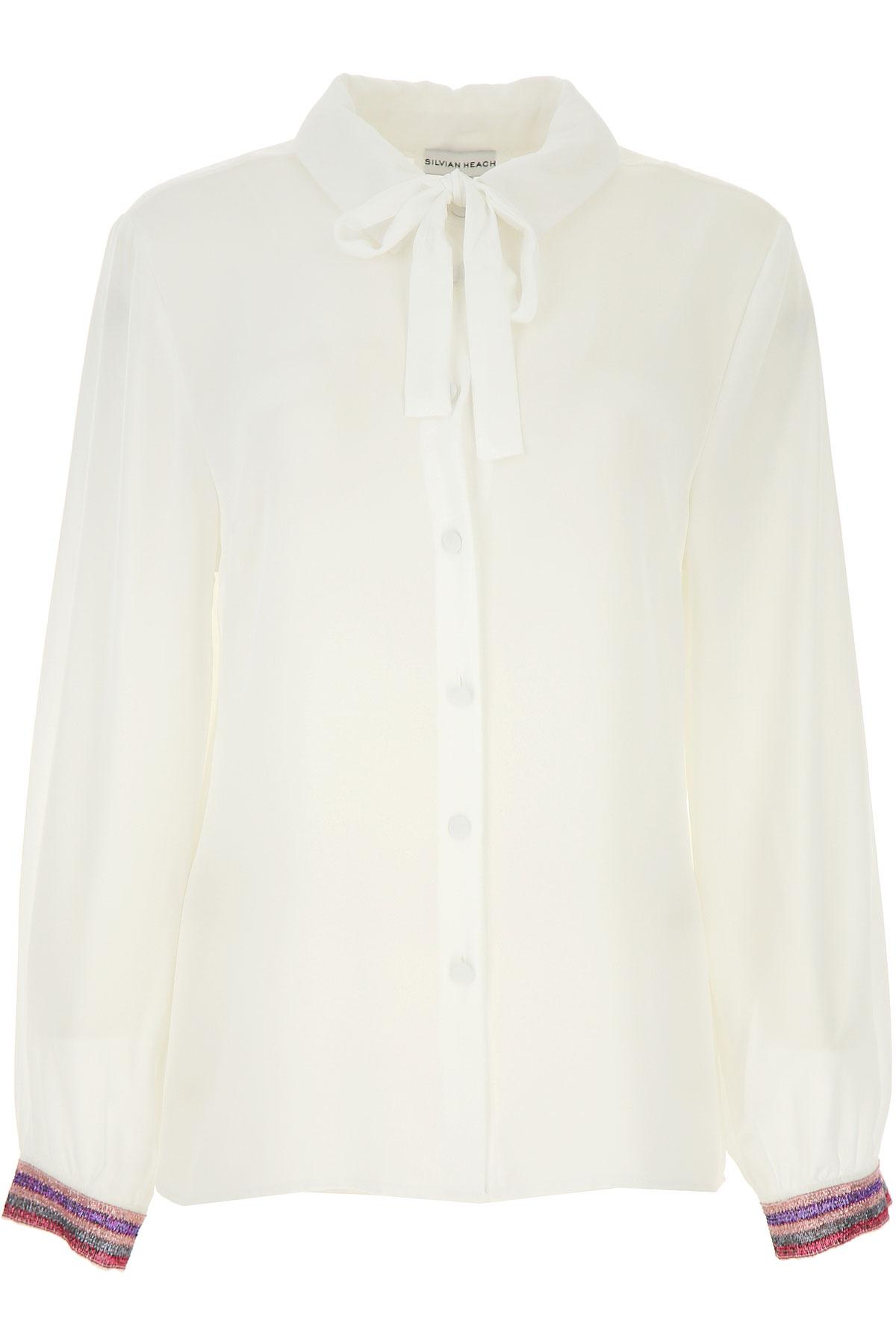 Silvian Heach Shirt for Women On Sale, White, polyester, 2019, 2 4