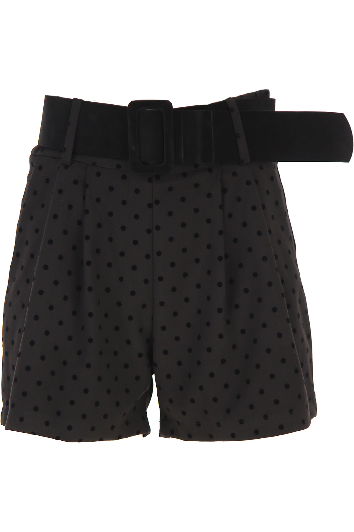 Silvian Heach Shorts for Women On Sale, Black, polyester, 2019, 24 26 28 30